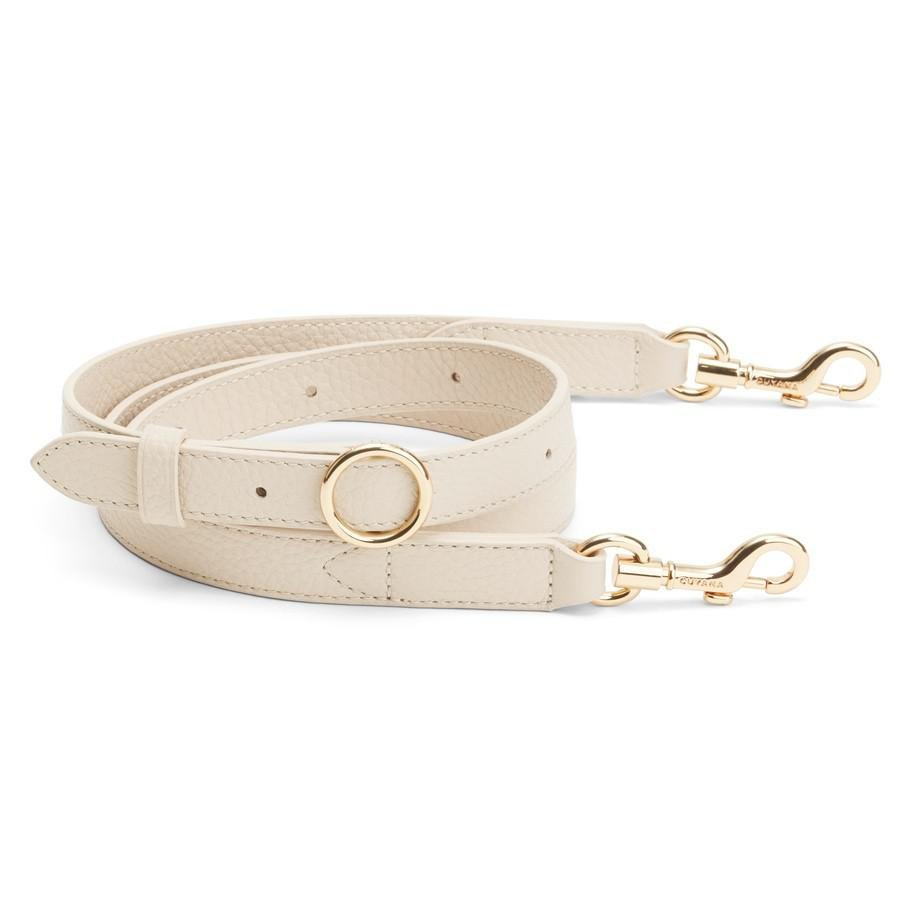 Women's Adjustable Strap in Ecru | Pebbled Leather by Cuyana