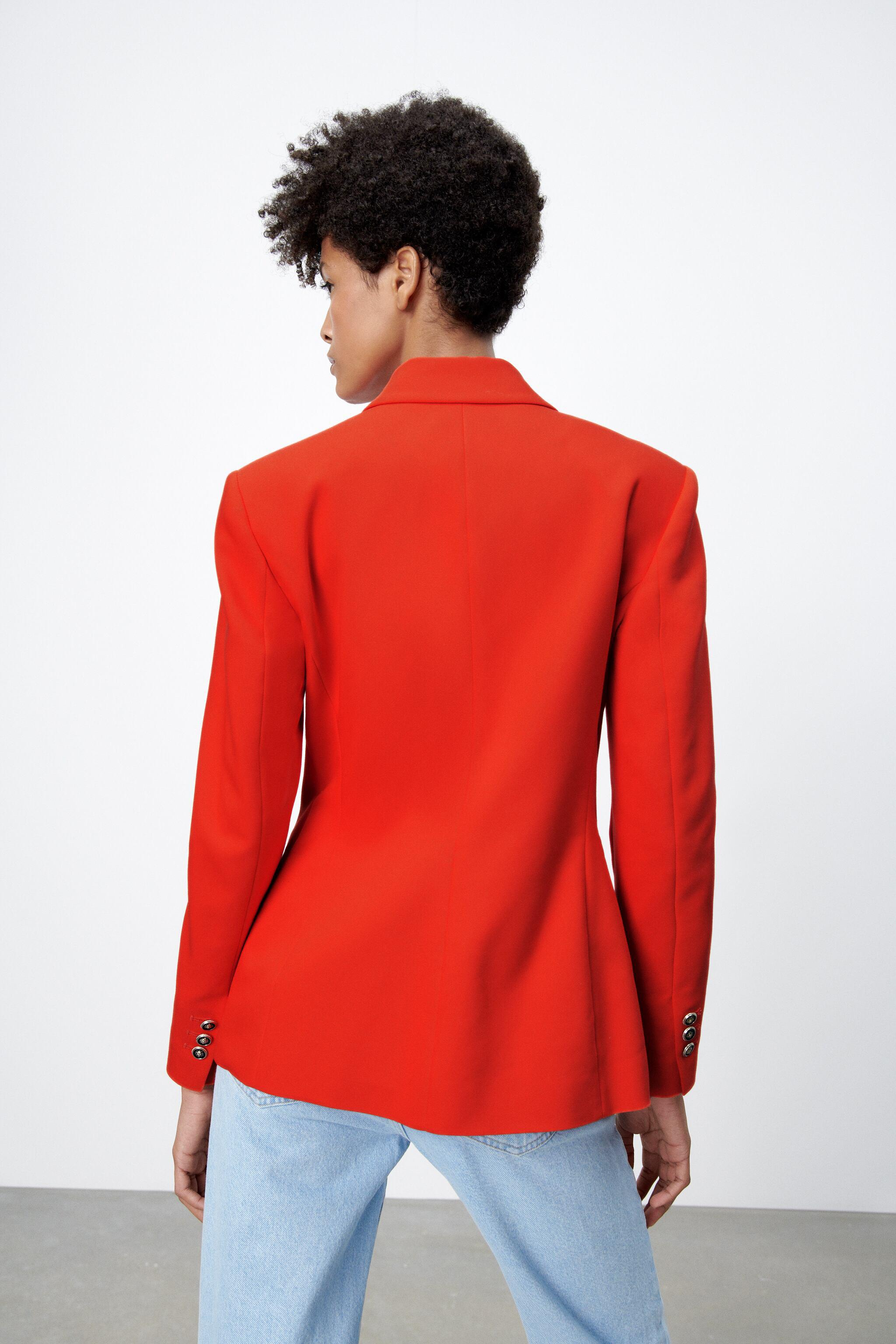 DOUBLE BREASTED BUTTONED BLAZER 3