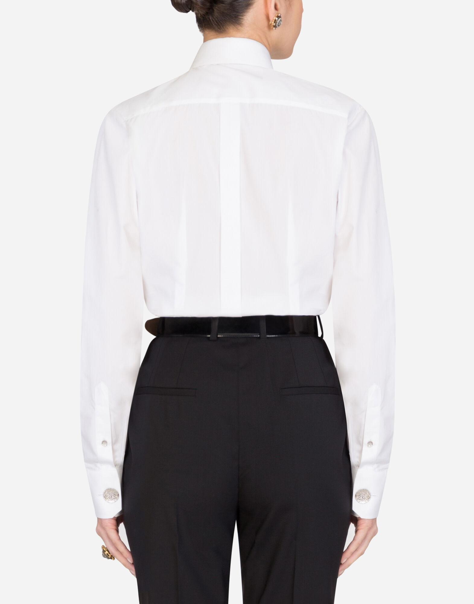 Poplin shirt with pussy bow 1