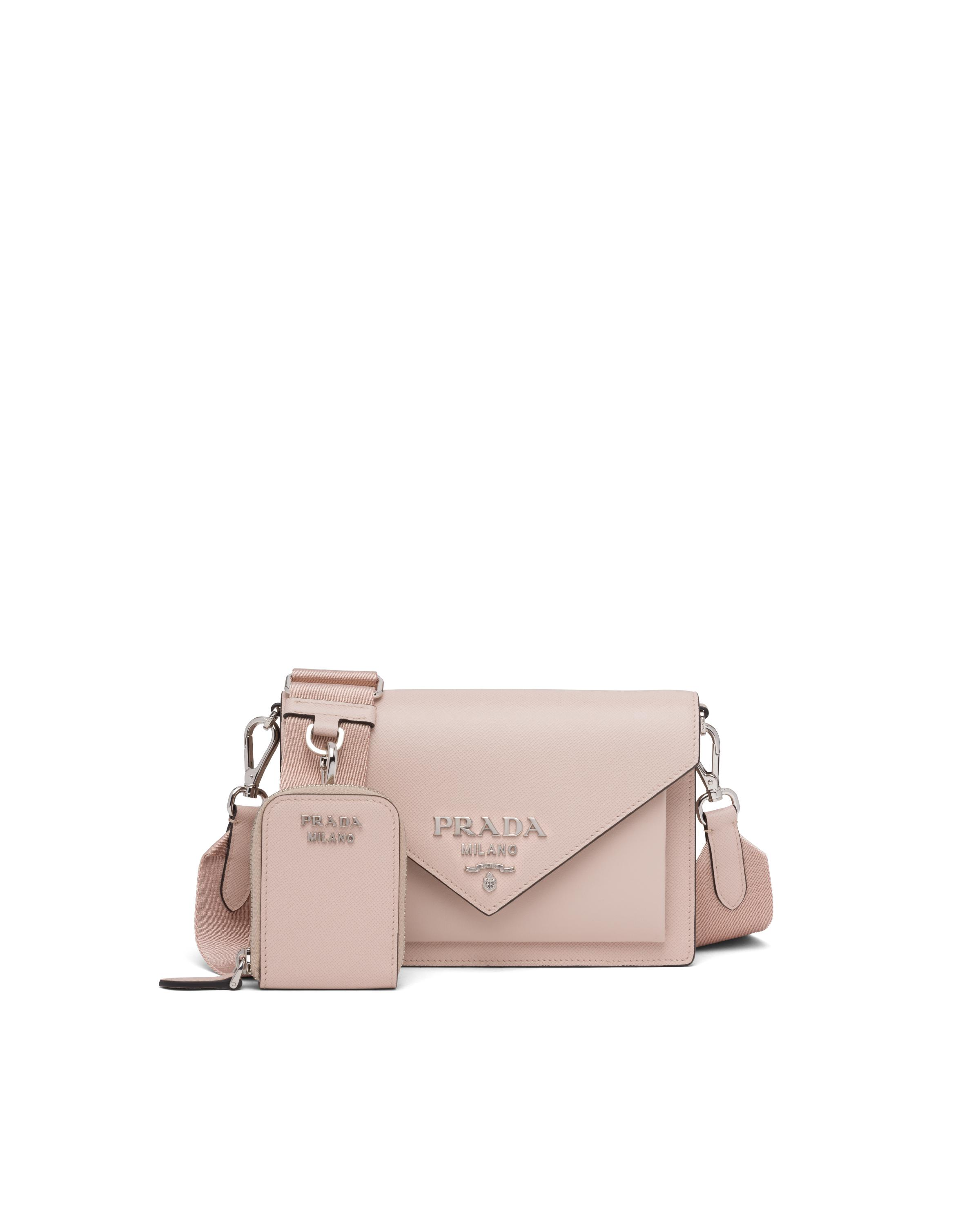 Saffiano Leather Mini Envelope Bag Women Water Lily
