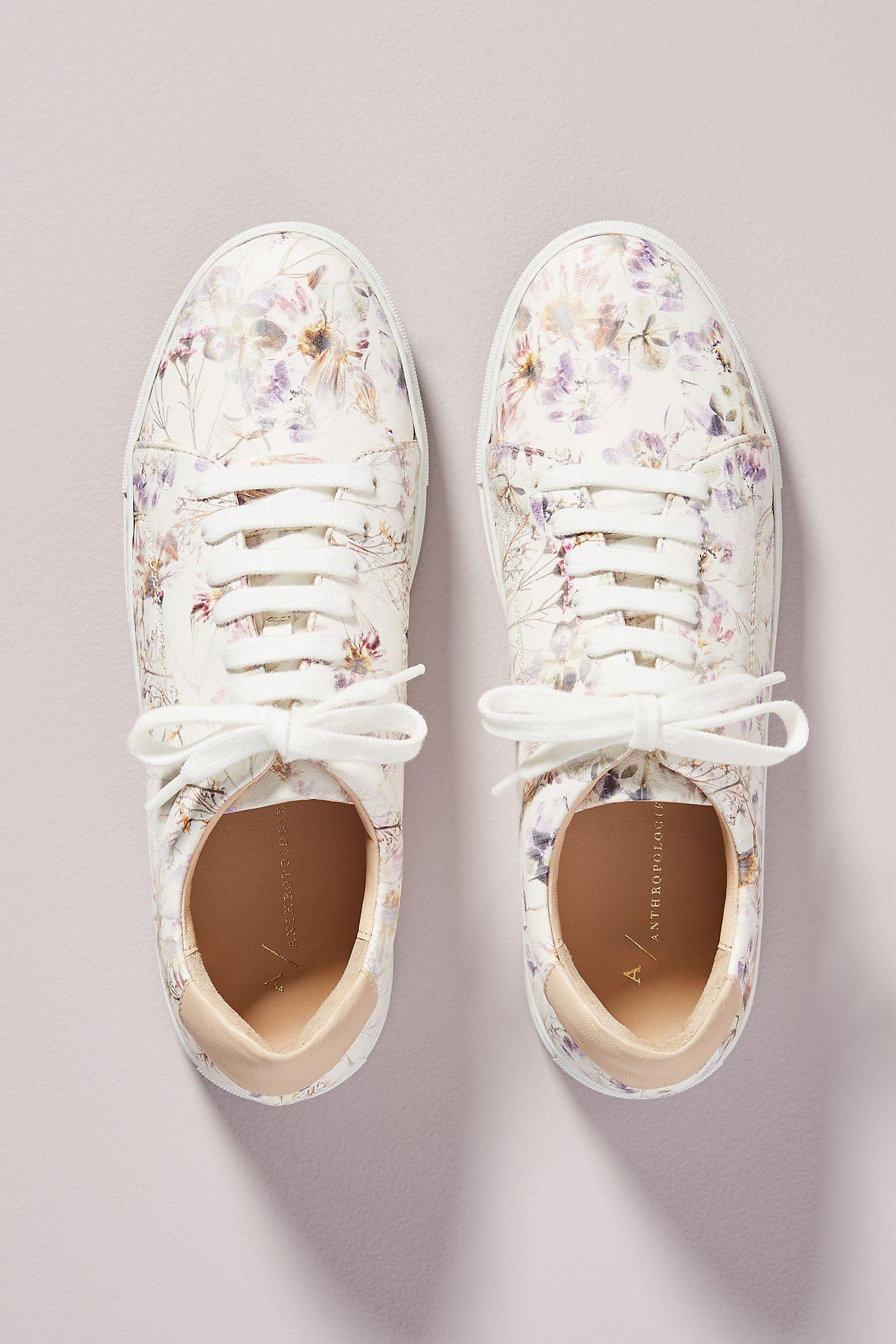 Violetta Floral Leather Sneakers 1
