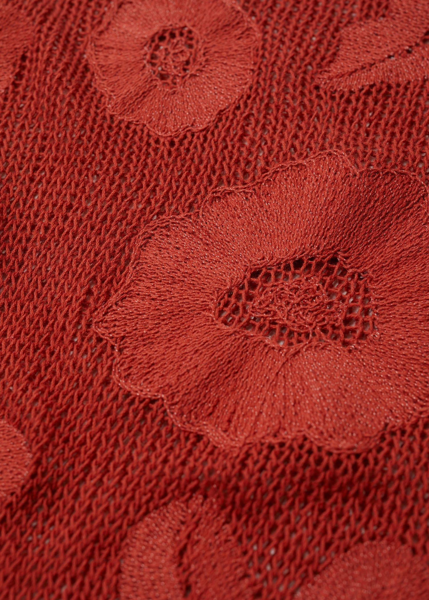 Flower embroidered sweater 6
