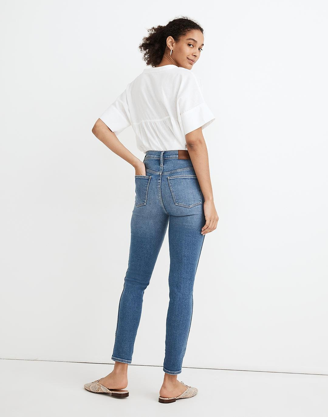 """10"""" High-Rise Skinny Crop Jeans in Sheffield Wash 2"""