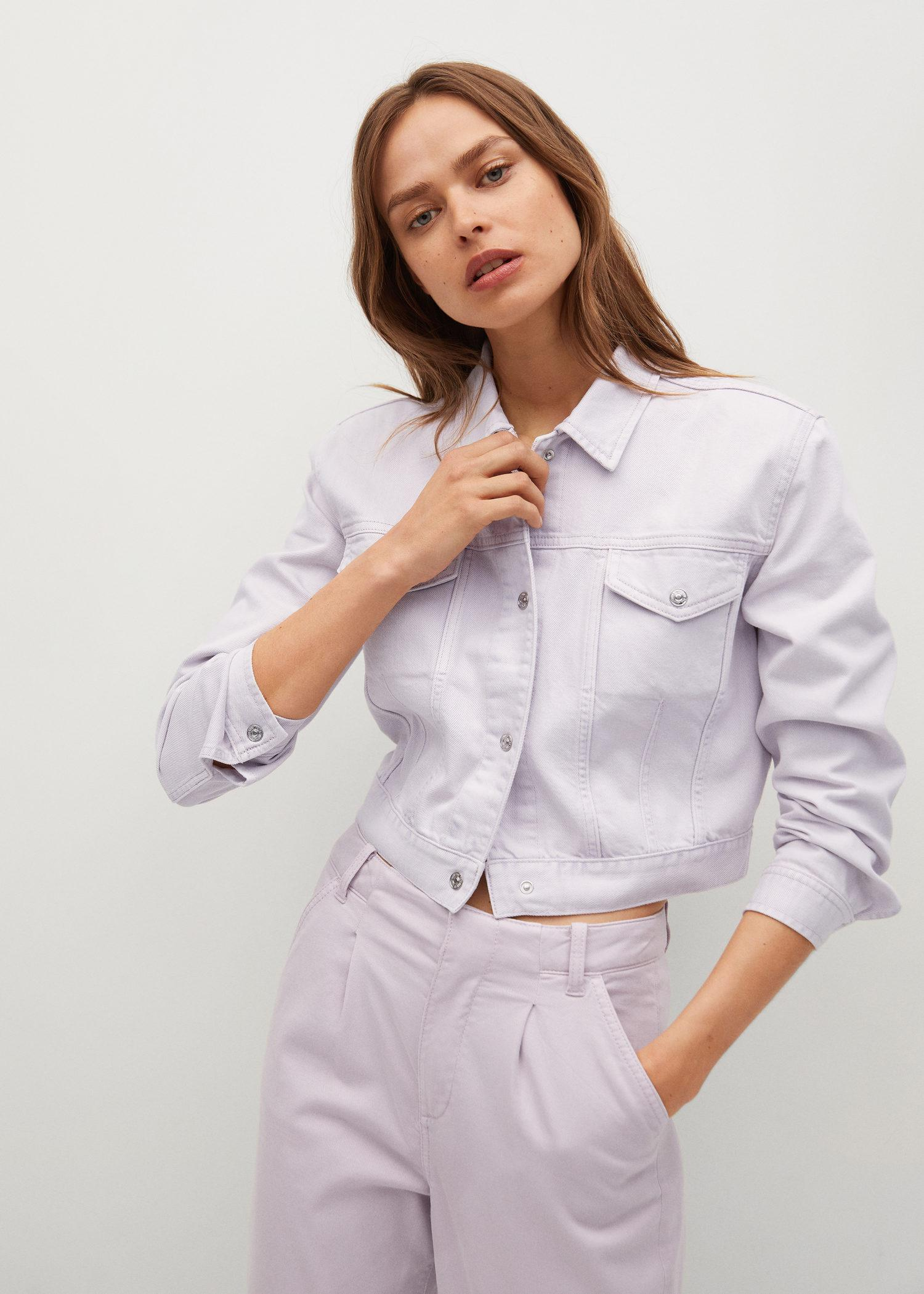 Cropped jacket with shoulder pads 5