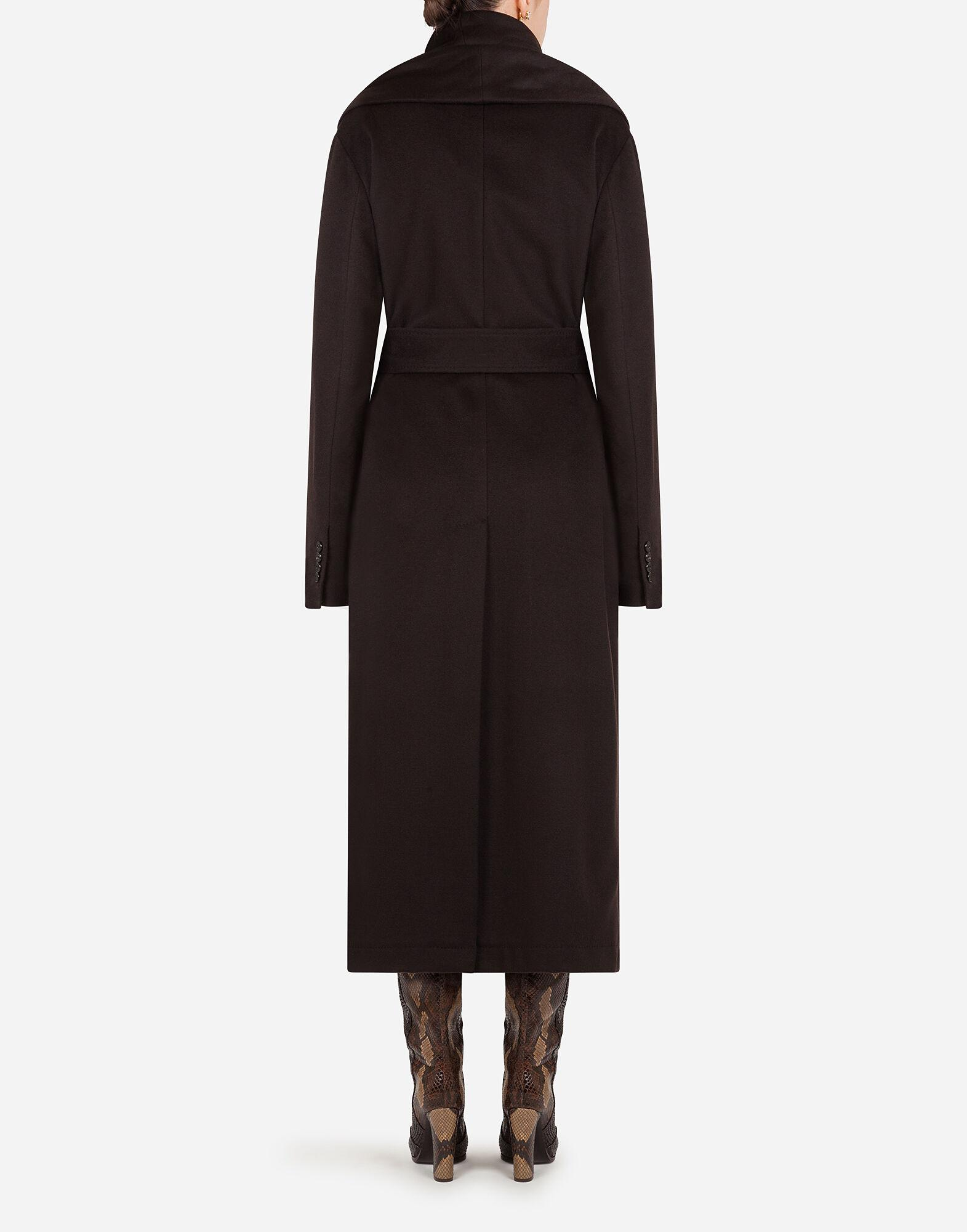 Belted cashmere robe coat 1