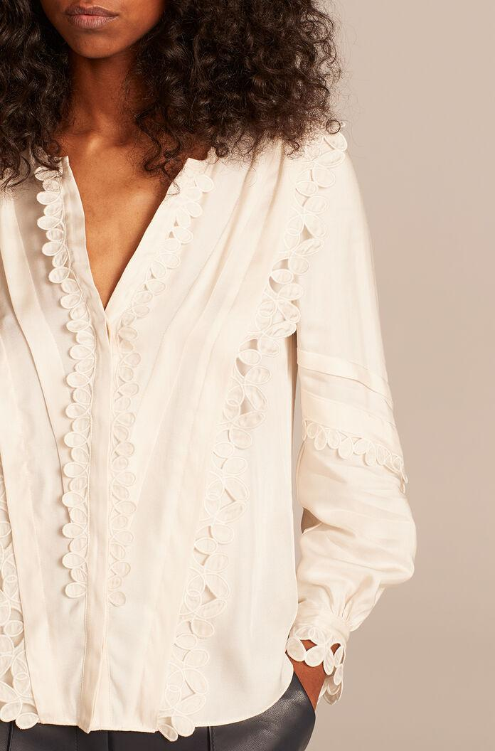 EMBROIDERED SILK TOP 0