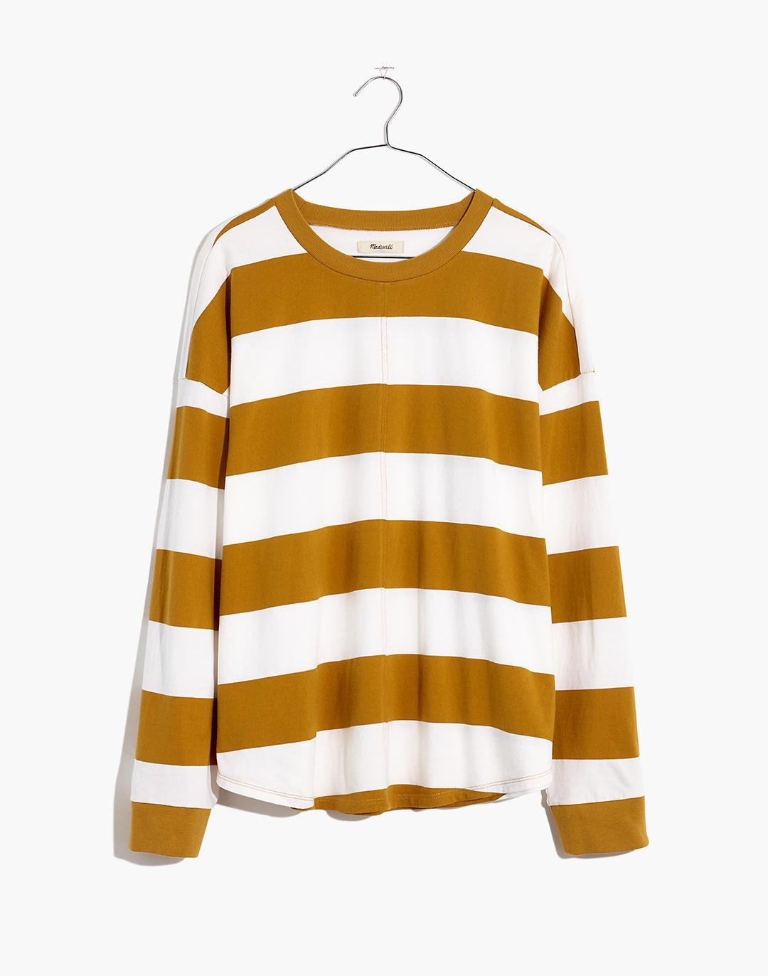 (Re)sourced Cotton Newville Tee in Lindell Stripe 4