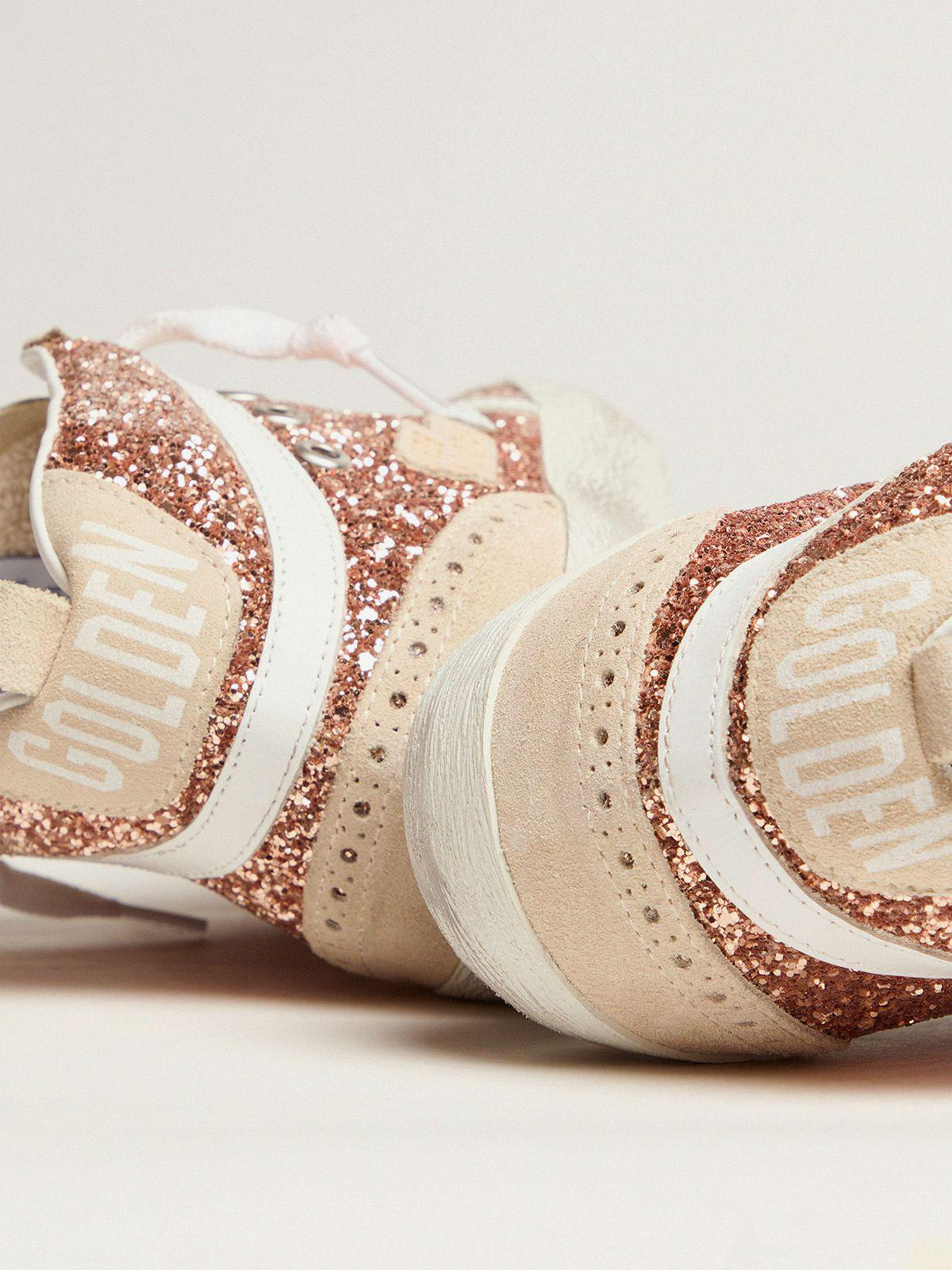 Mid Star sneakers with pink-gold glitter 3