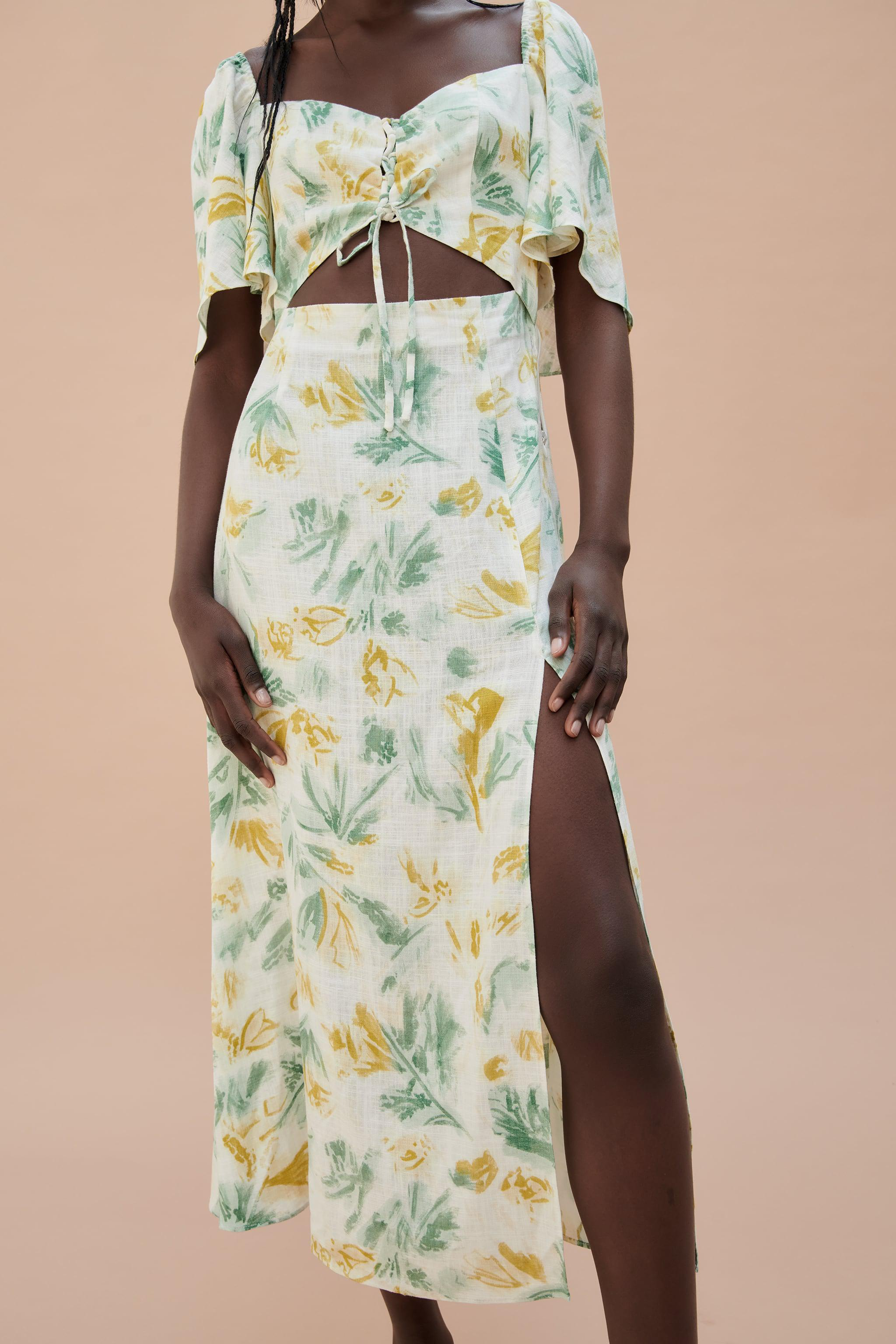 CUT OUT PRINTED DRESS 3