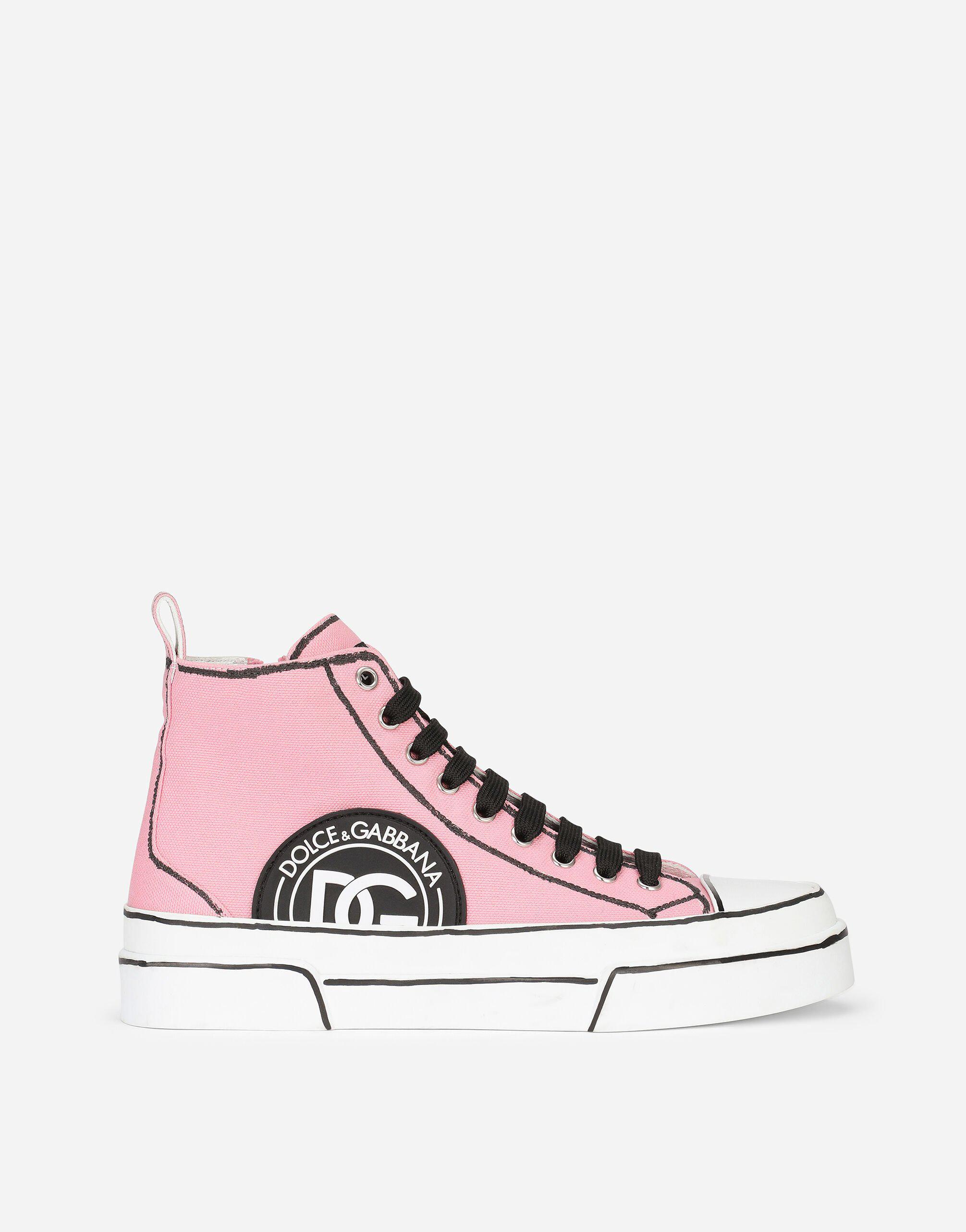 Hand-painted canvas Portofino Light mid-top sneakers