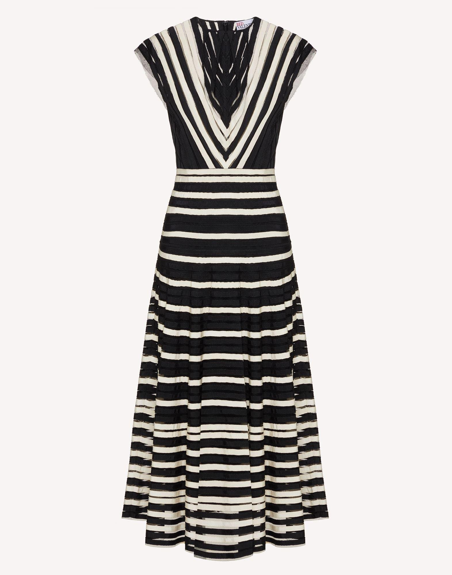 POINT D'ESPRIT TULLE DRESS WITH GROSGRAIN RIBBONS 4