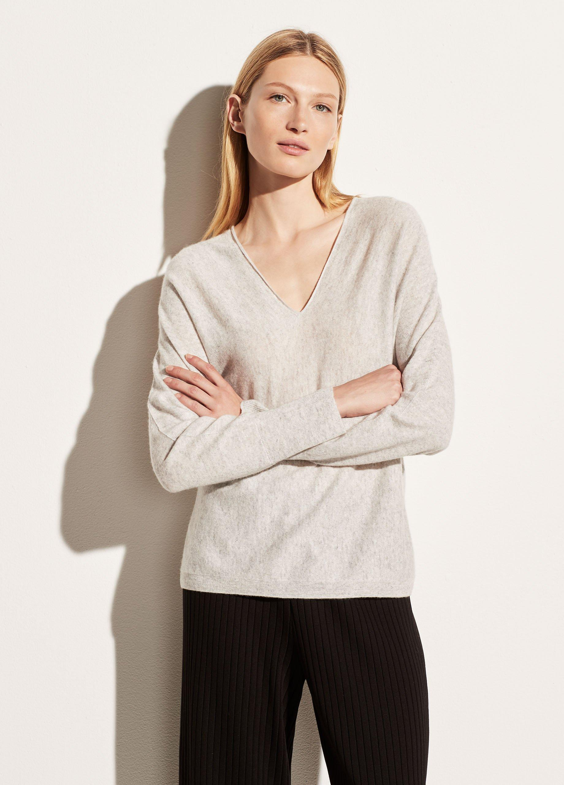 Double V-Neck Pullover