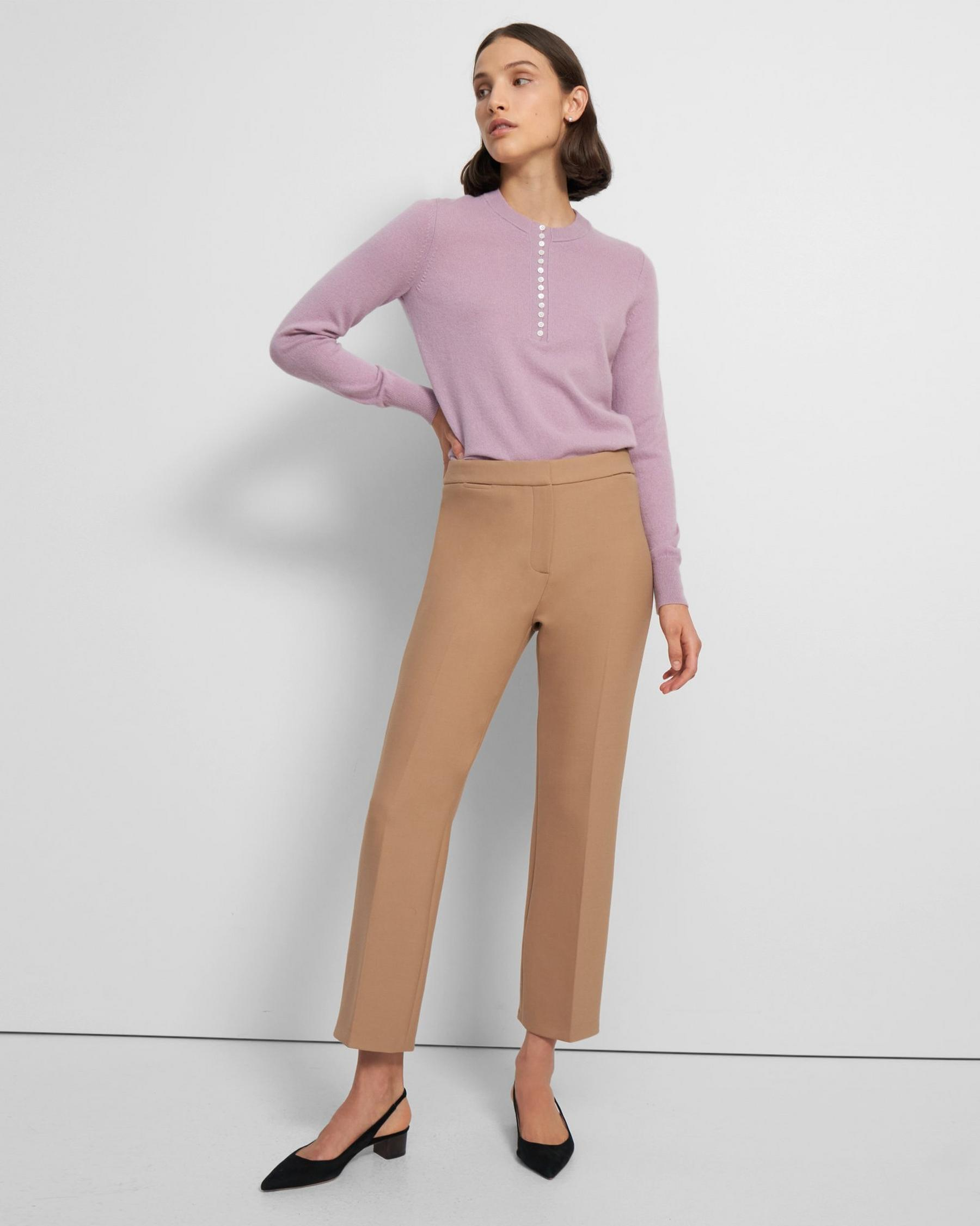 Straight Pant in Bistretch Wool Twill