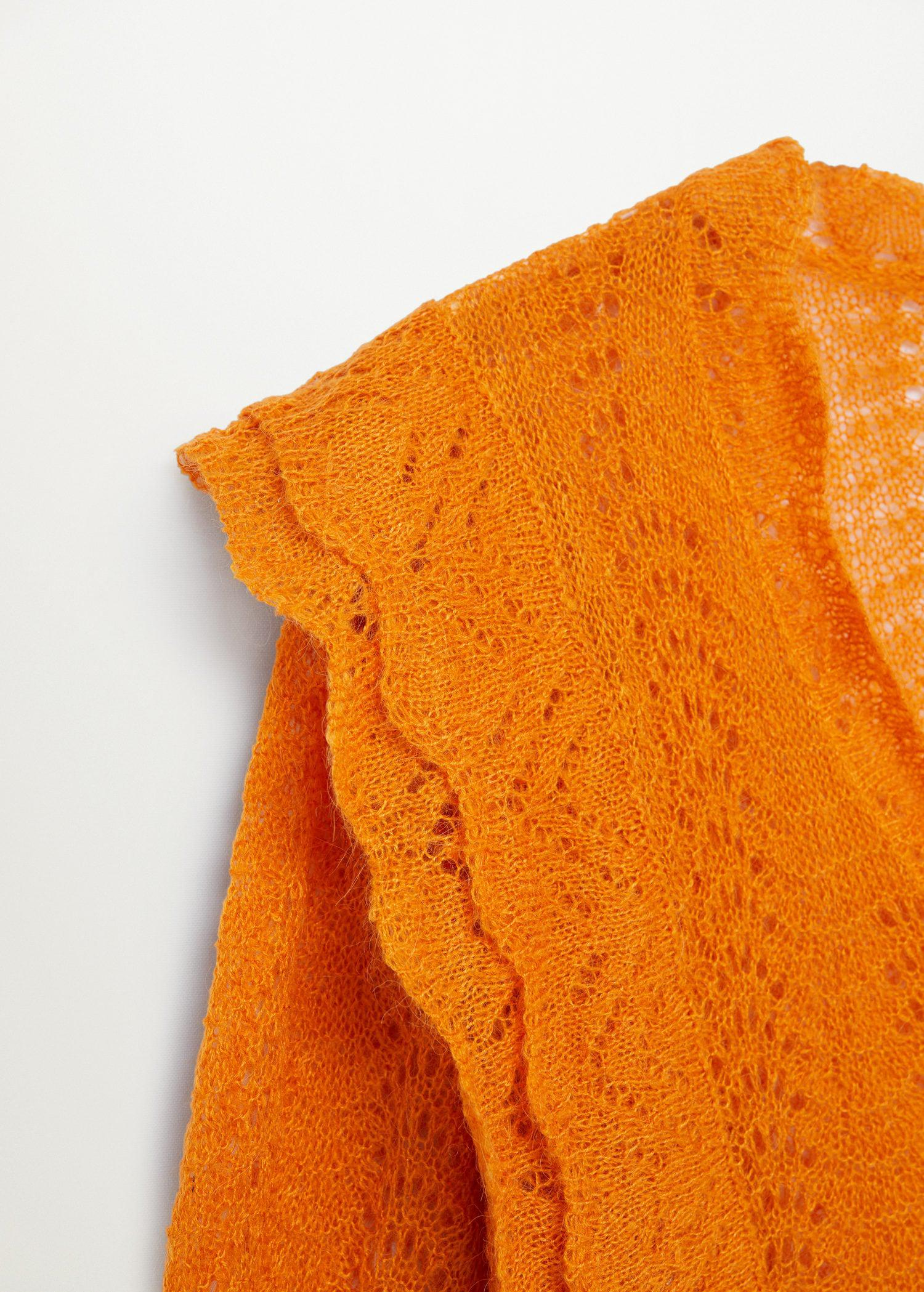 Openwork cropped sweater 5