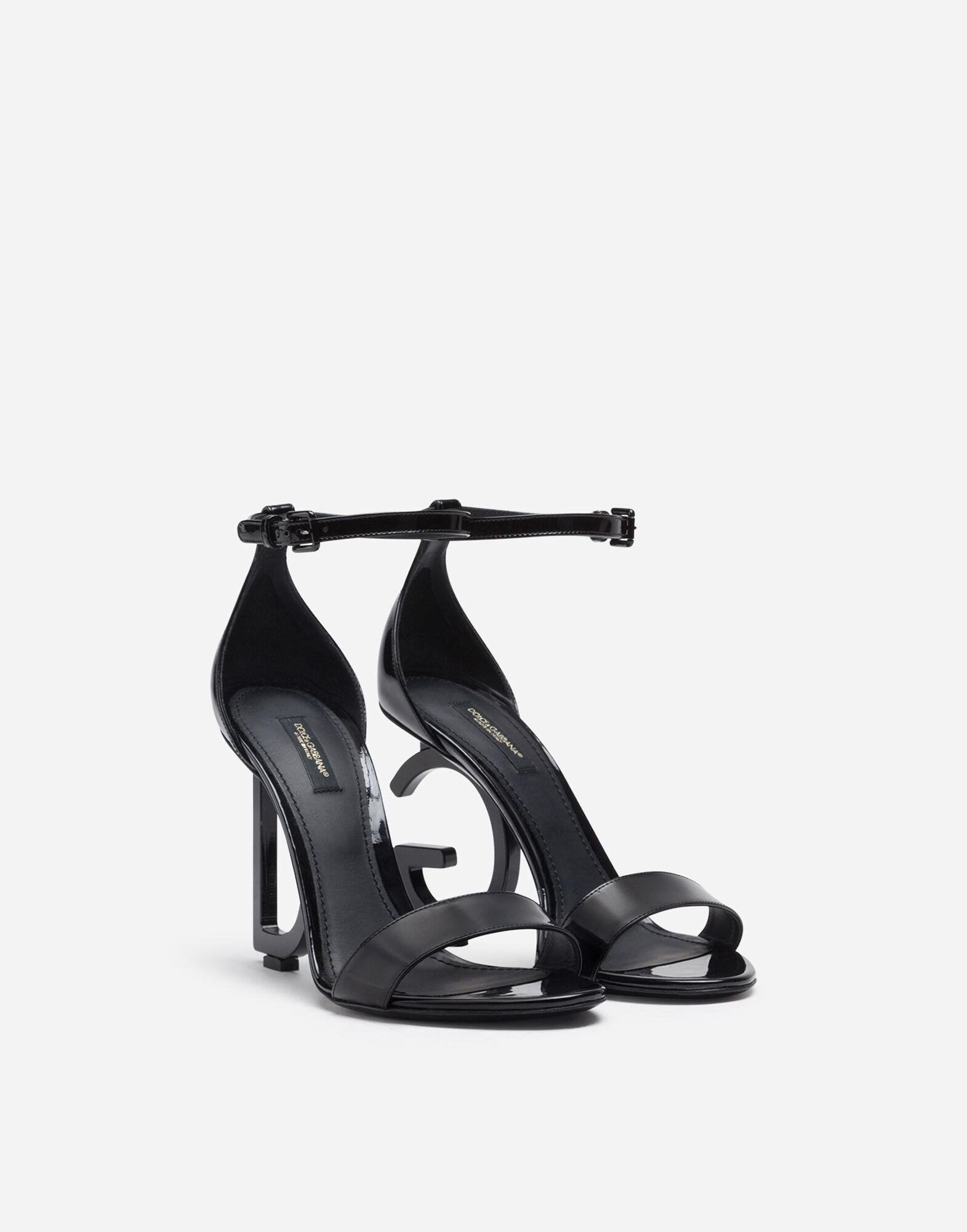 Patent leather sandals with DG heel 1