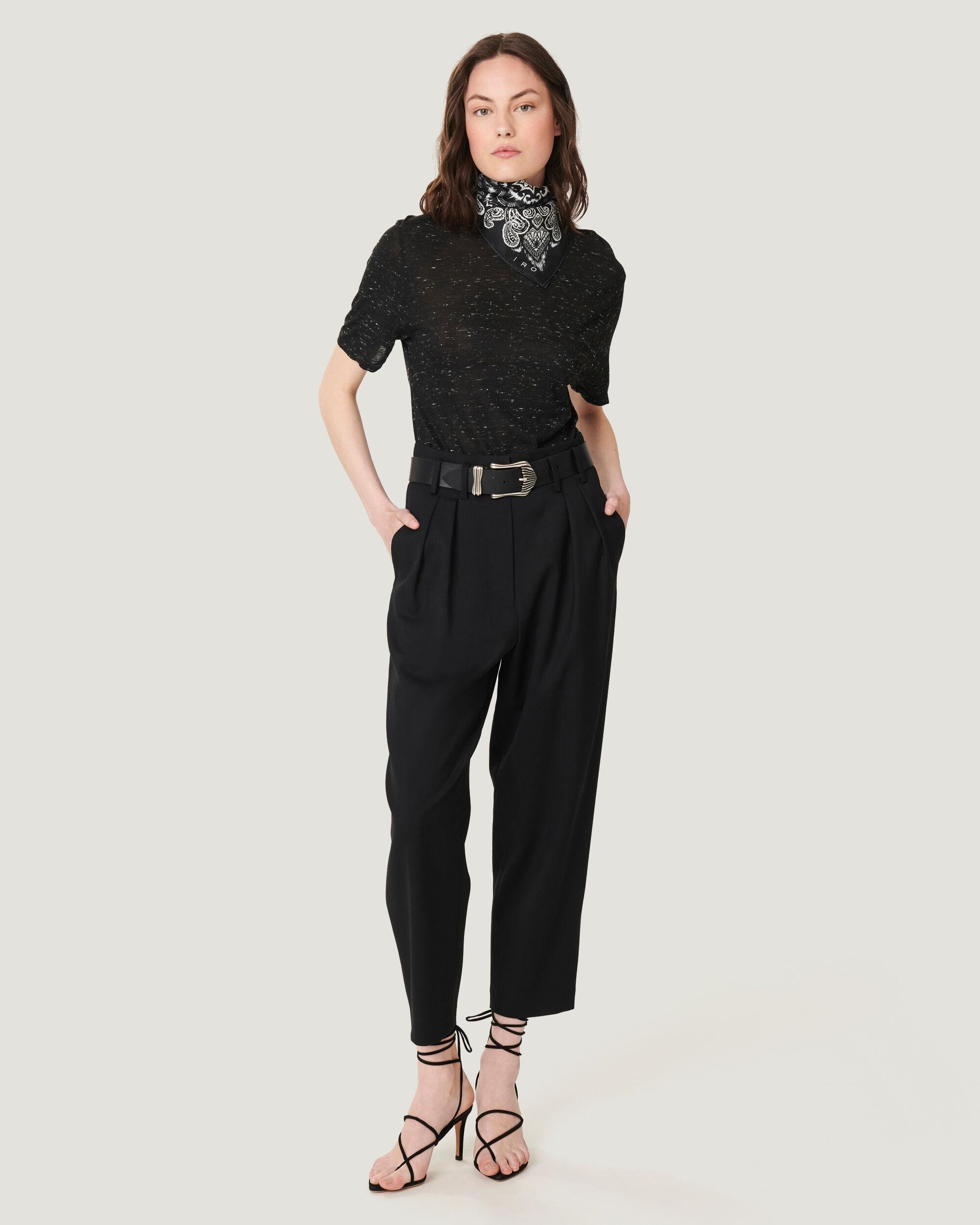 ALESSO ULTRA CROPPED PLEATED TROUSERS