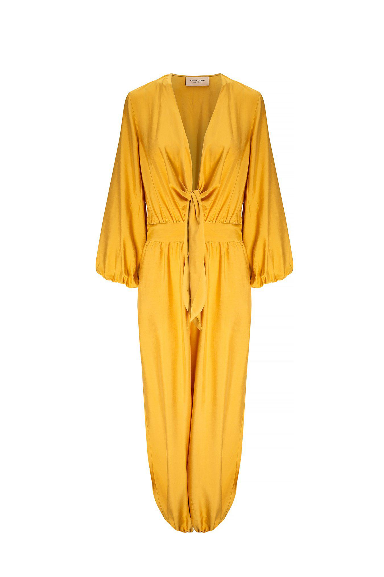 Solid Jumpsuit With Knot 3