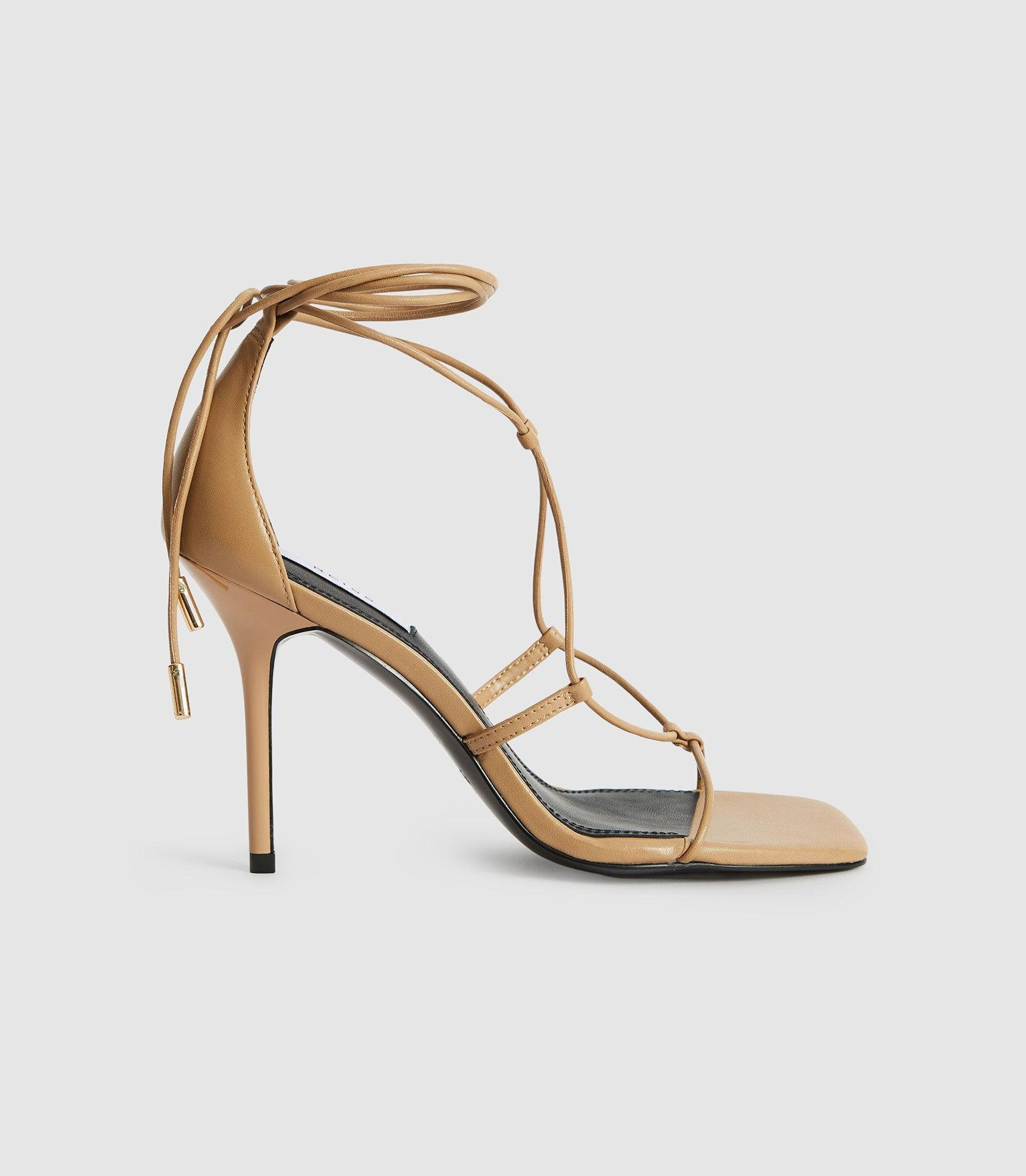 KALI - LEATHER STRAPPY WRAP SANDALS