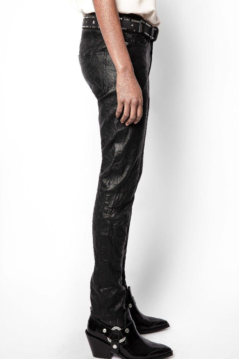 Phlame Crinkle Leather Pants 2