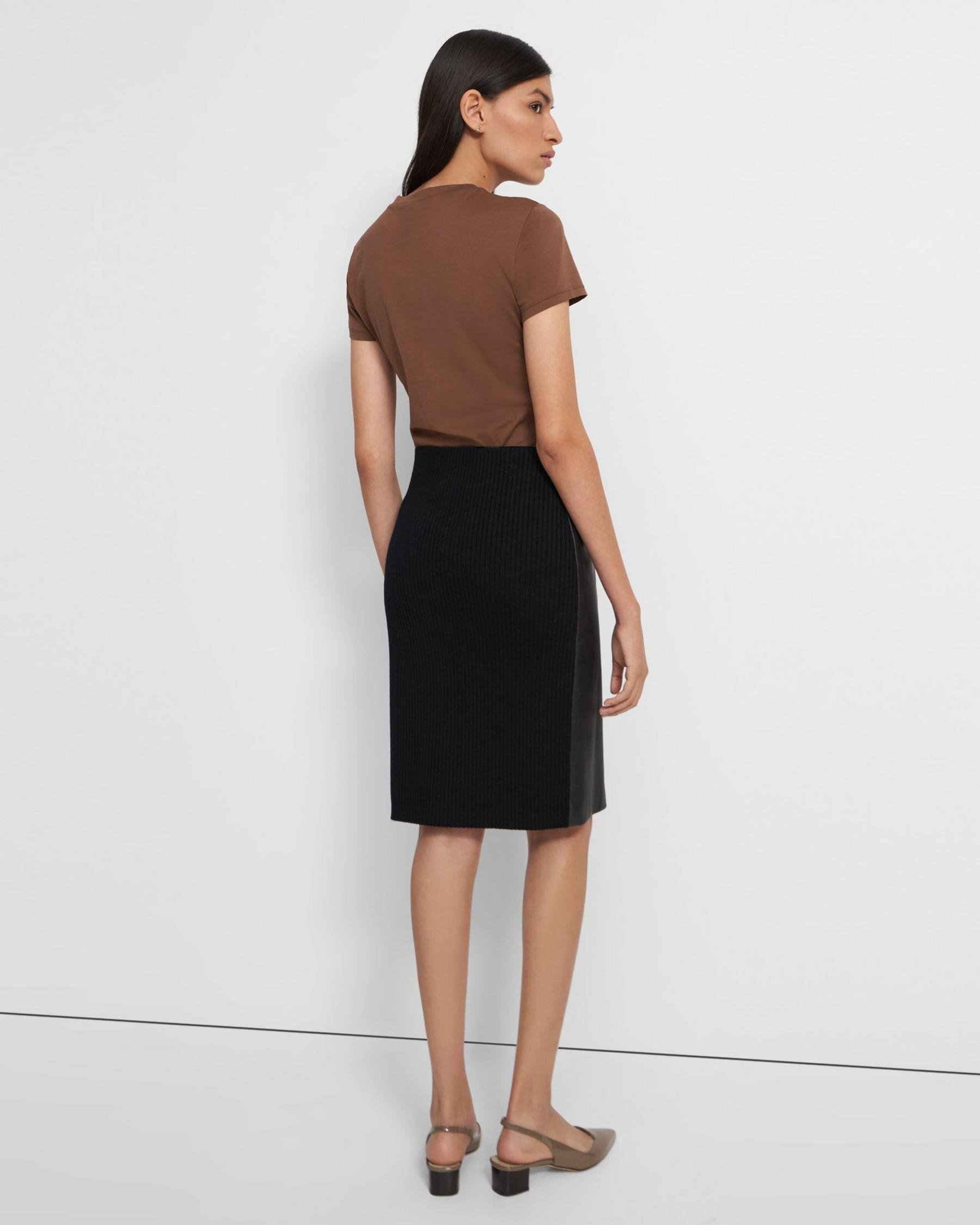Pencil Skirt in Leather Combo 3