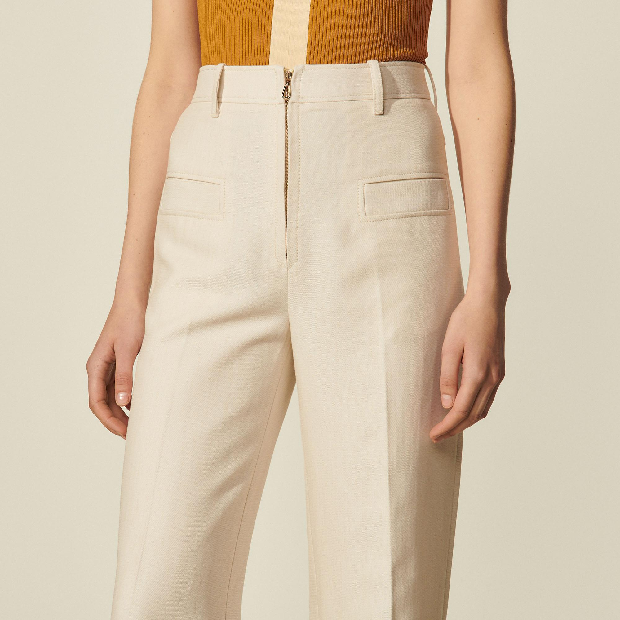 Pants with center front zip 4