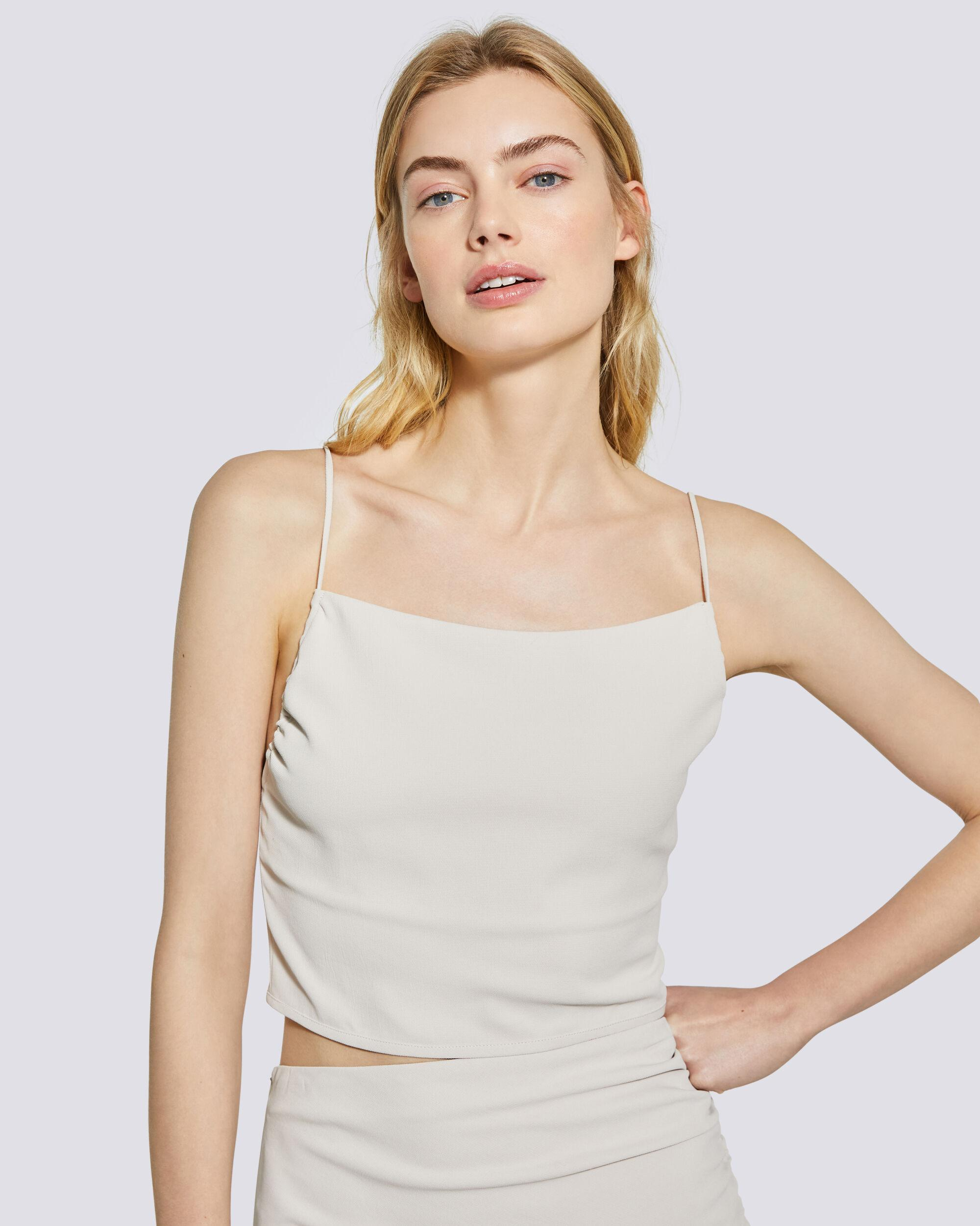 LUNE CROPPED TIE-BACK CAMISOLE