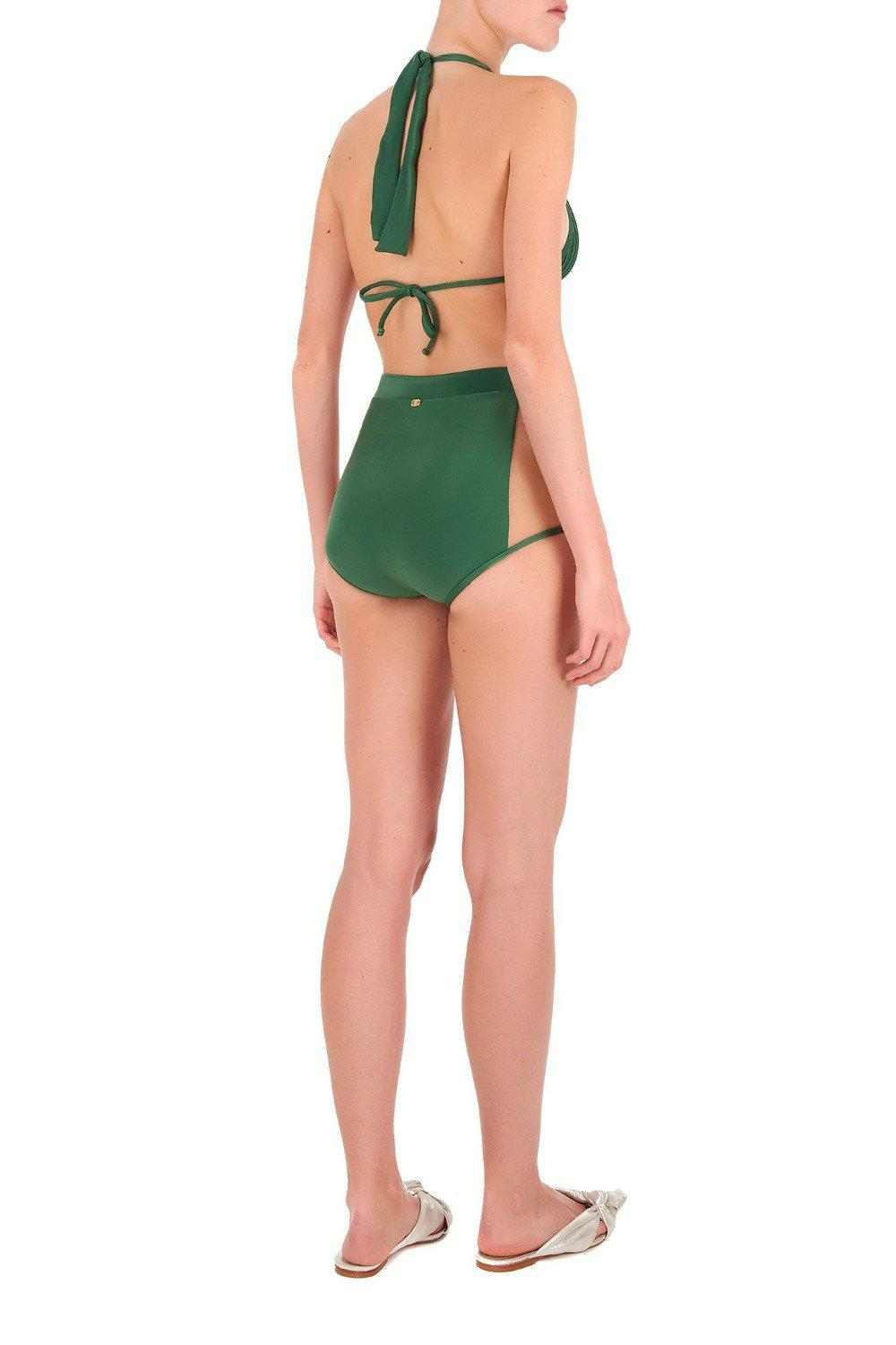Fiore Solid Hot Pants Bikini with Tulle 1