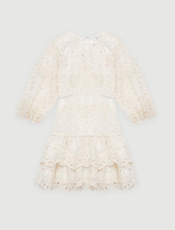 EYELET MINI DRESS WITH CUT-OUTS 5