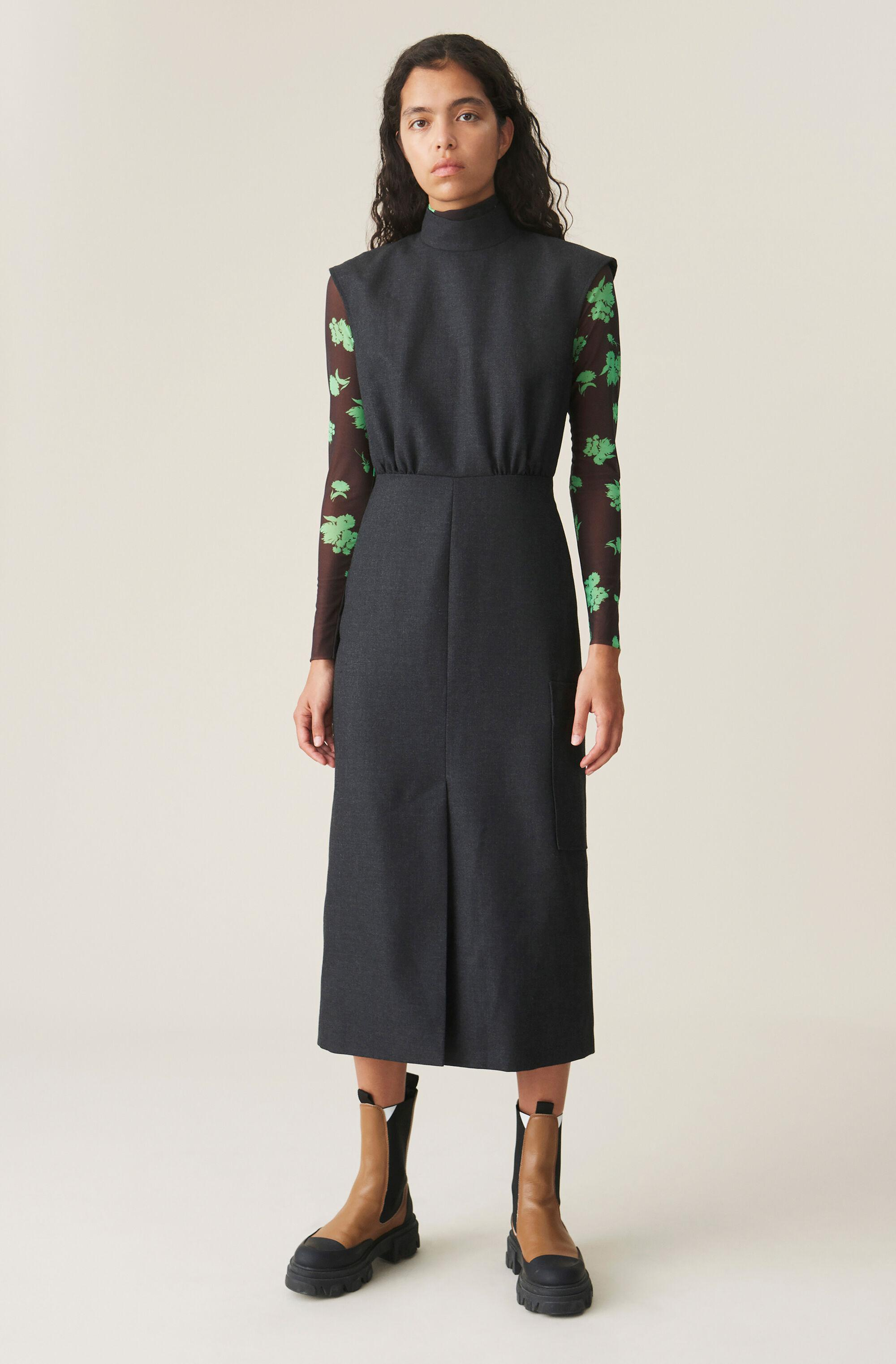 Wool Suiting Dress