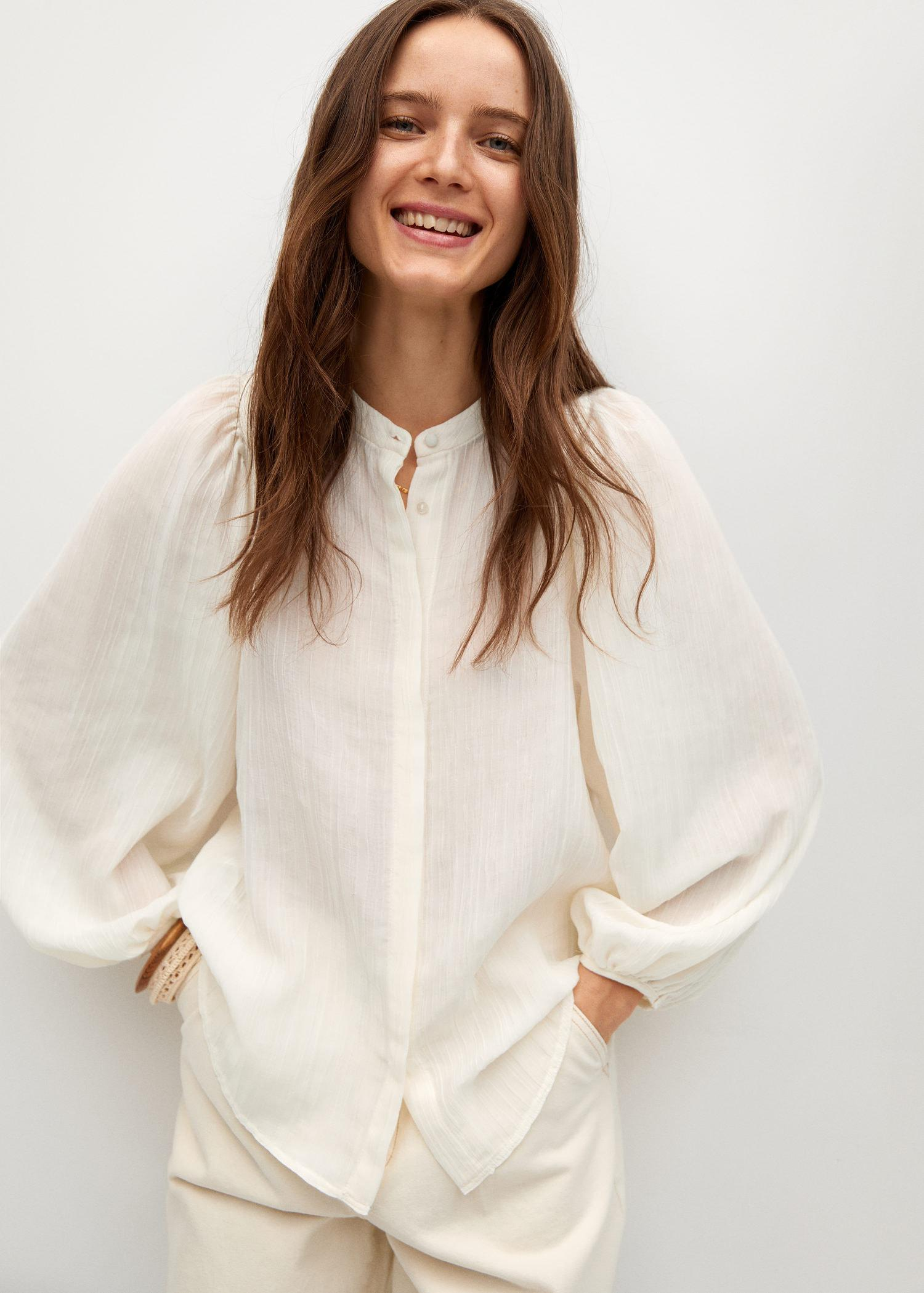 Flowy textured blouse