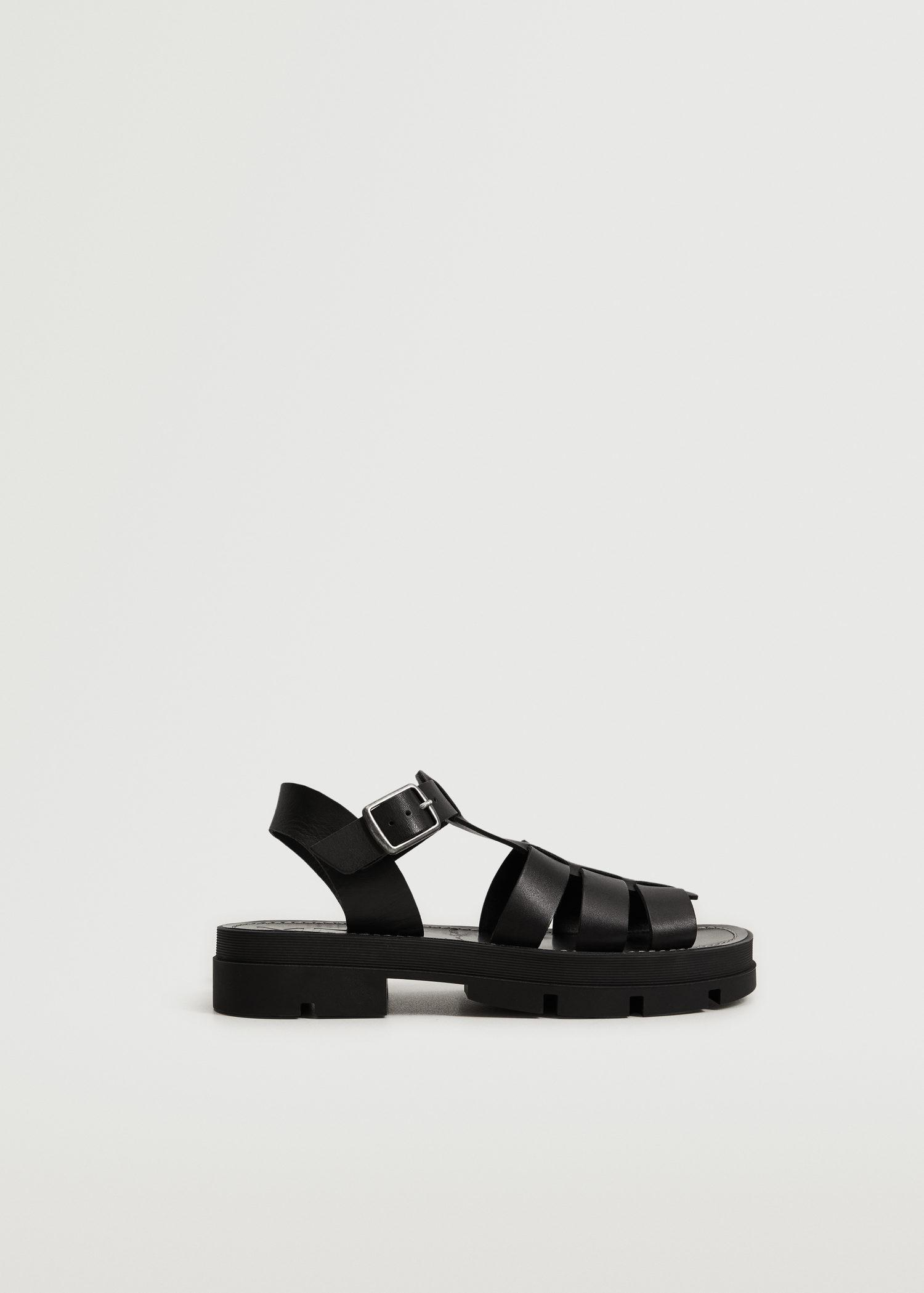 Leather straps sandals