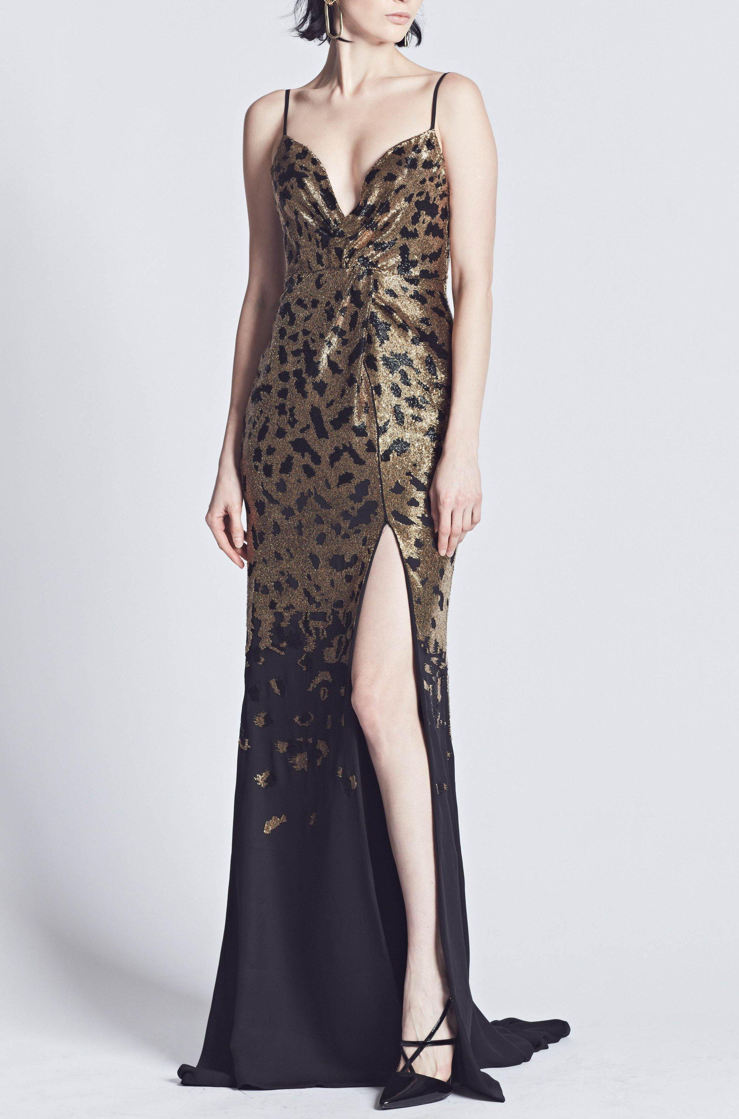 EMBROIDERED CHEETAH GOWN