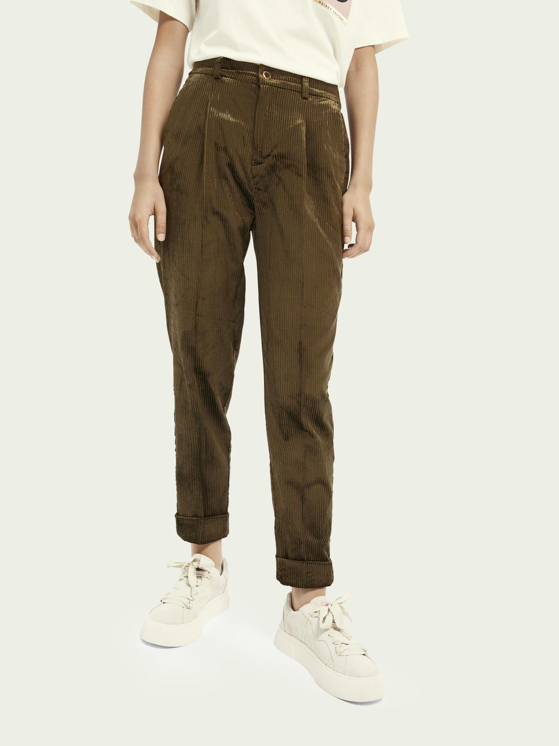 High-rise corduroy trousers