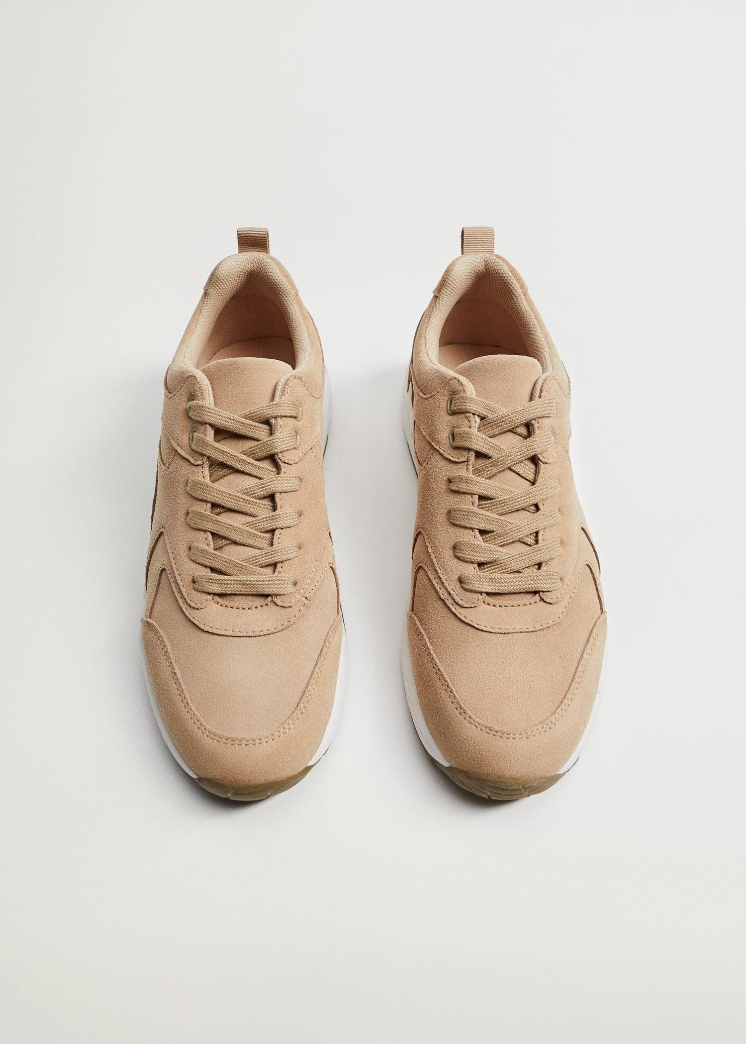 Contrast sole leather sport shoes 3