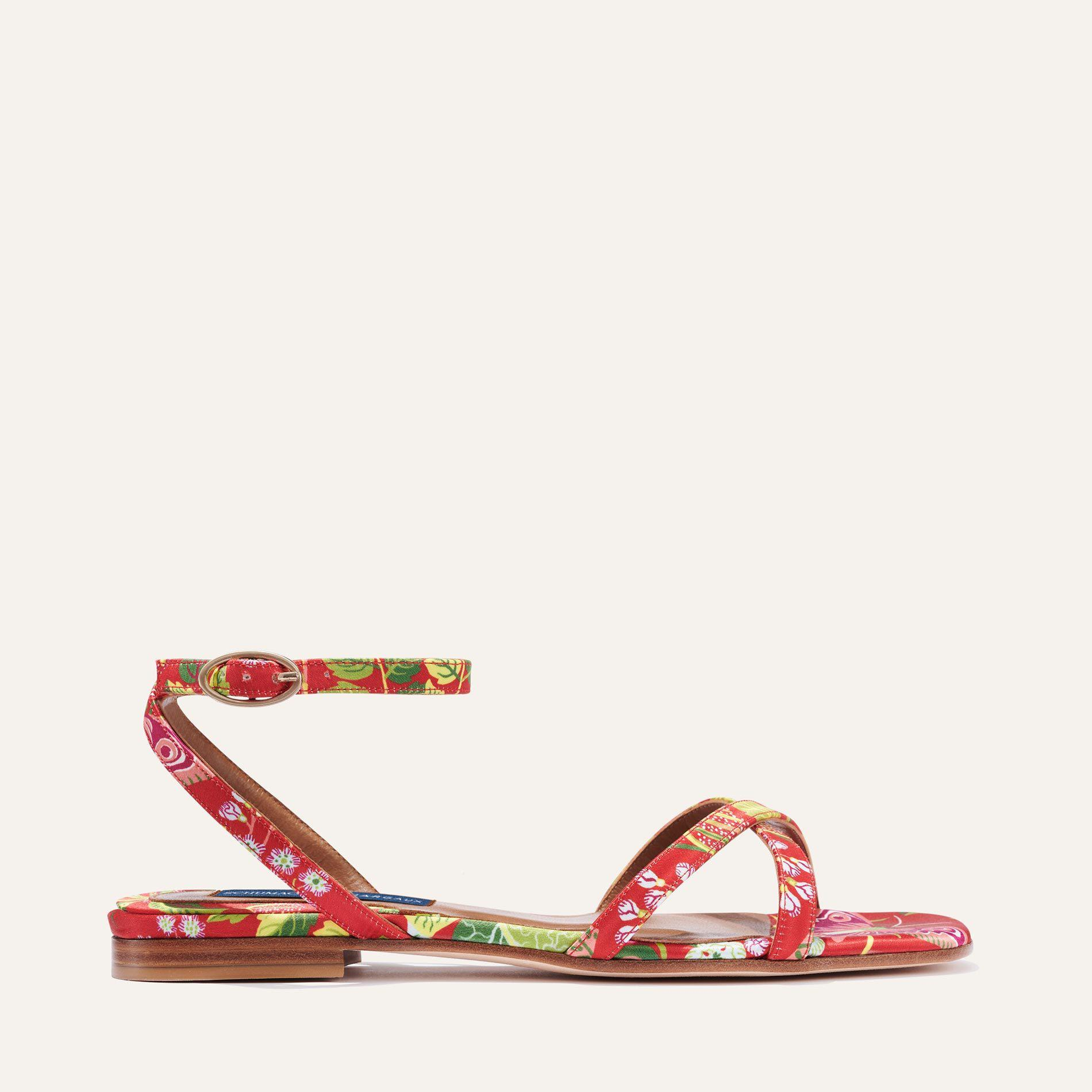 Schumacher x Margaux - The Flat Sandal in Exotic Butterfly