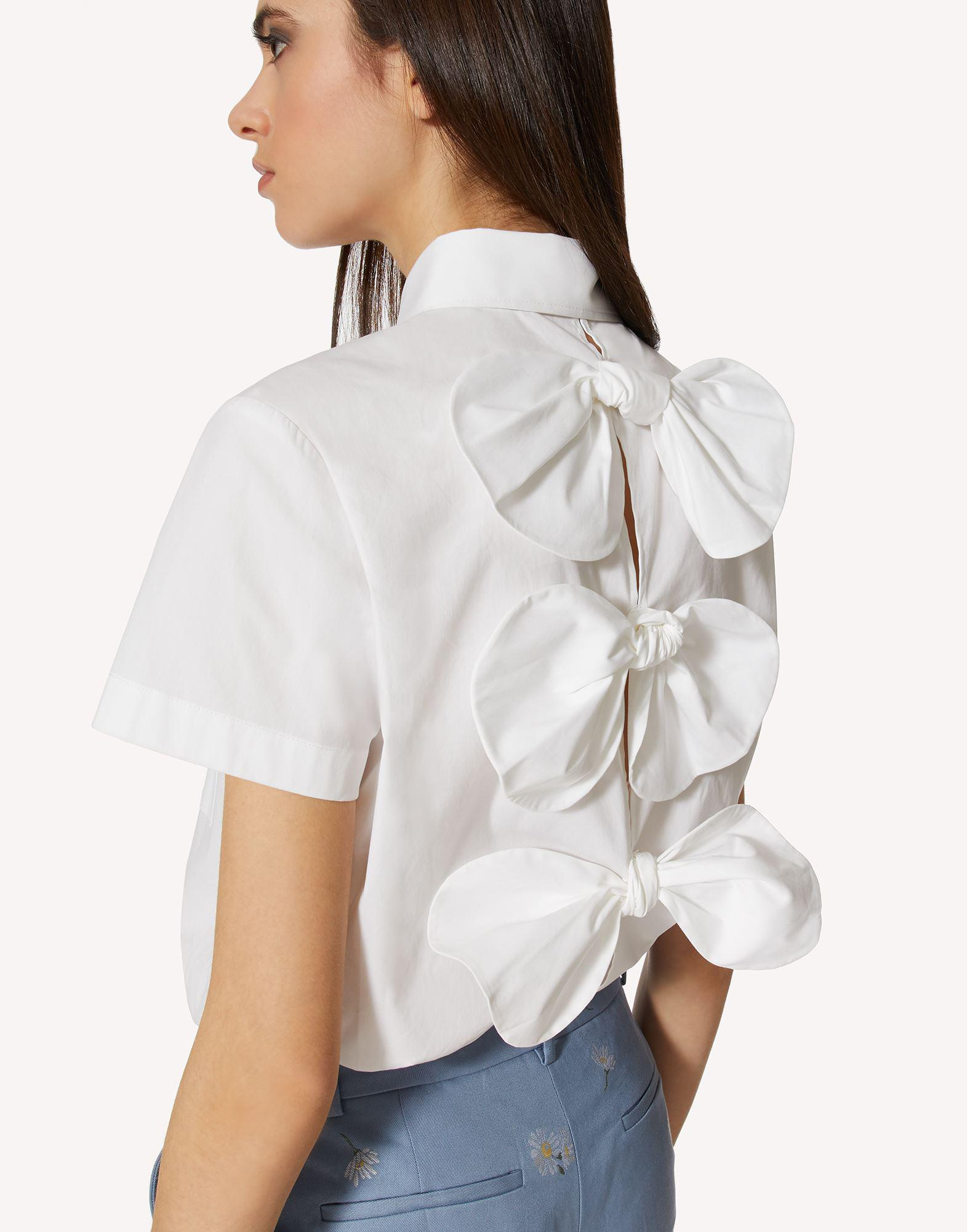 COTTON POPLIN SHIRT WITH BOW DETAILS 3