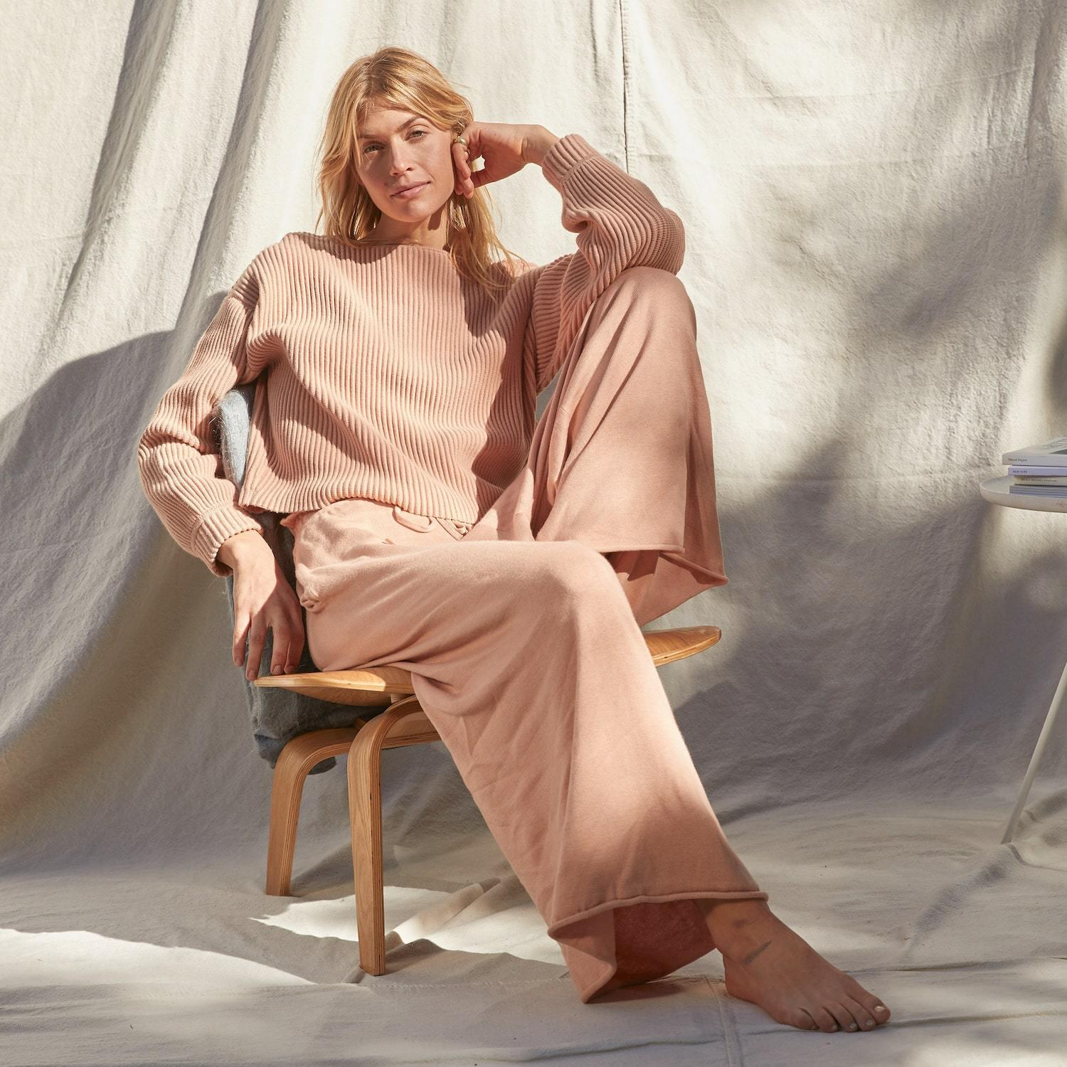 Cozy Cotton Silk Relaxed Ankle Pant 2