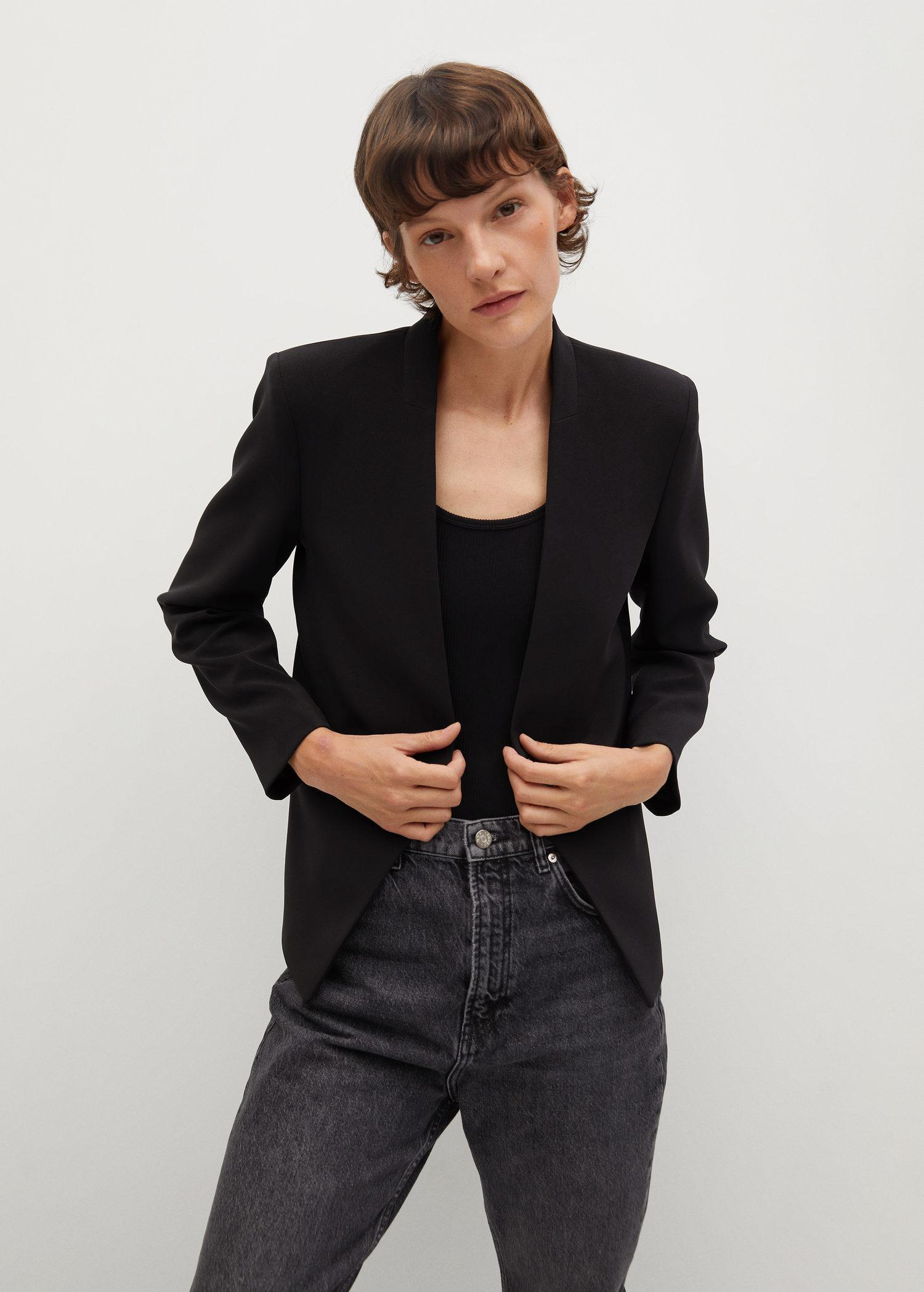 Crepe fitted blazer