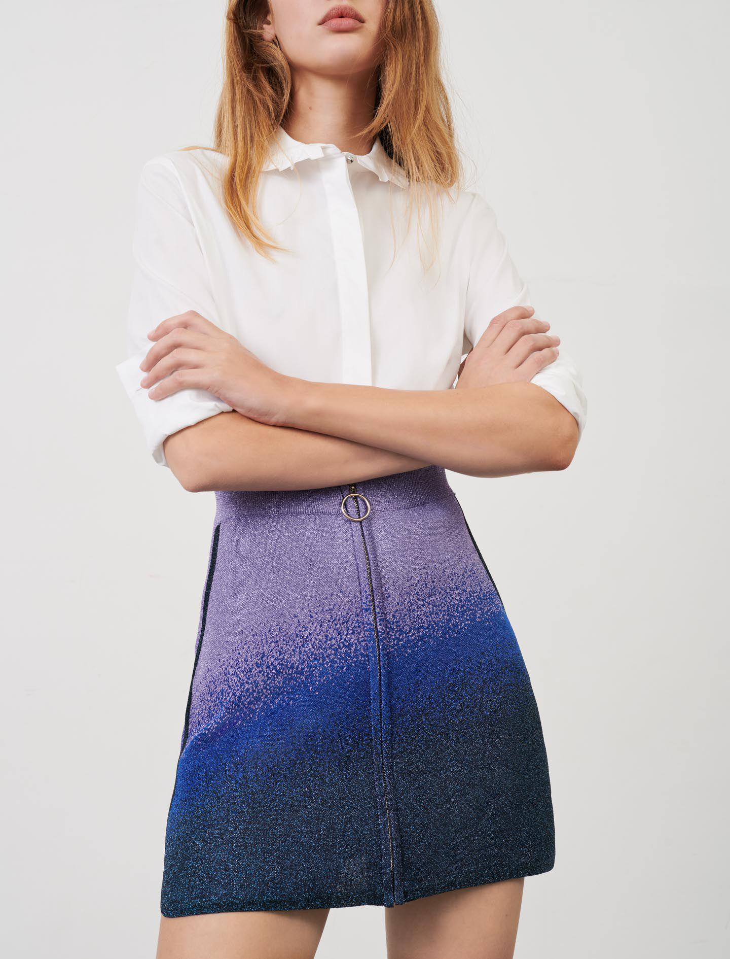 LUREX KNITTED SKIRT WITH ZIP 2
