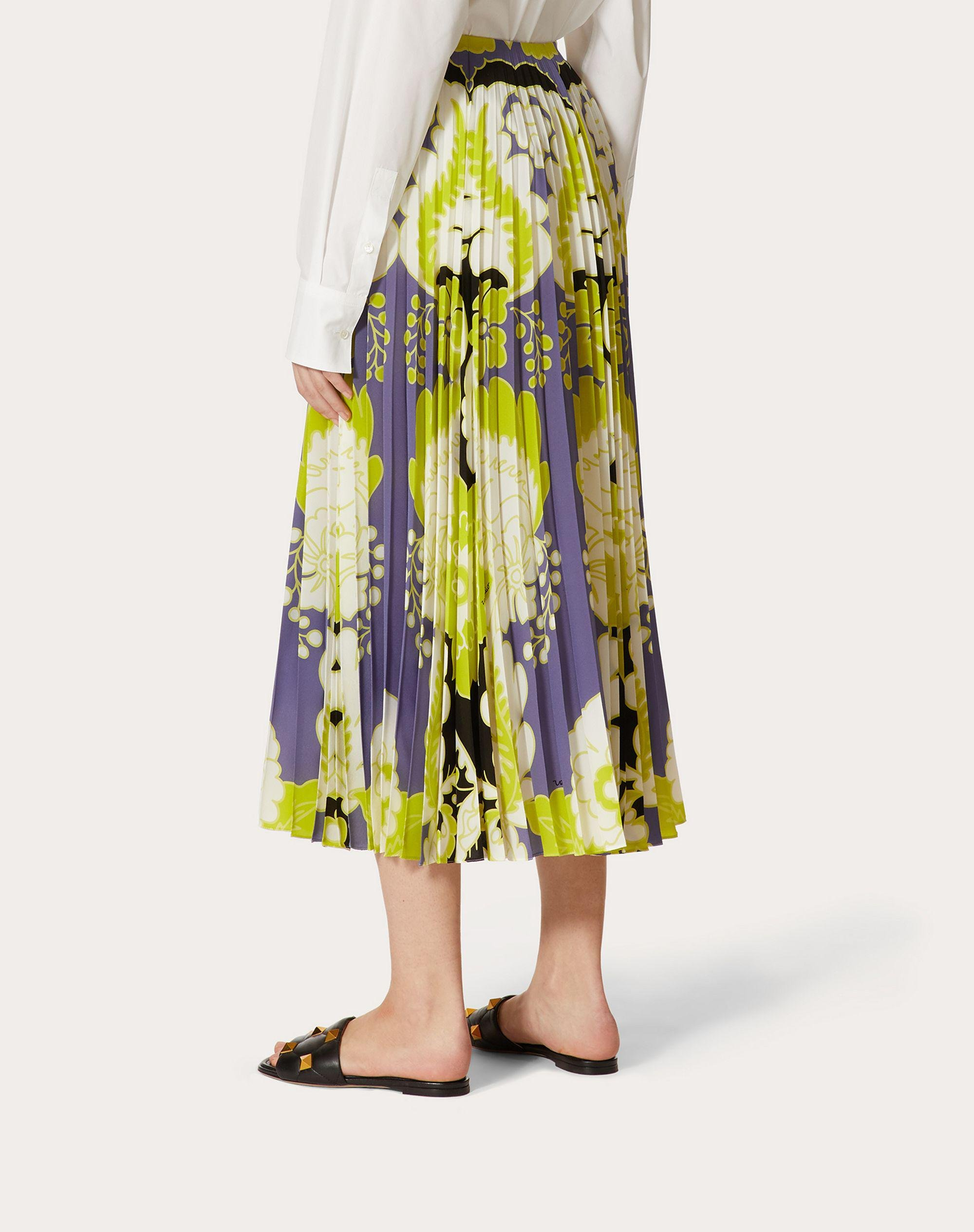 CREPE DE CHINE PLEATED SKIRT WITH PRINT 2