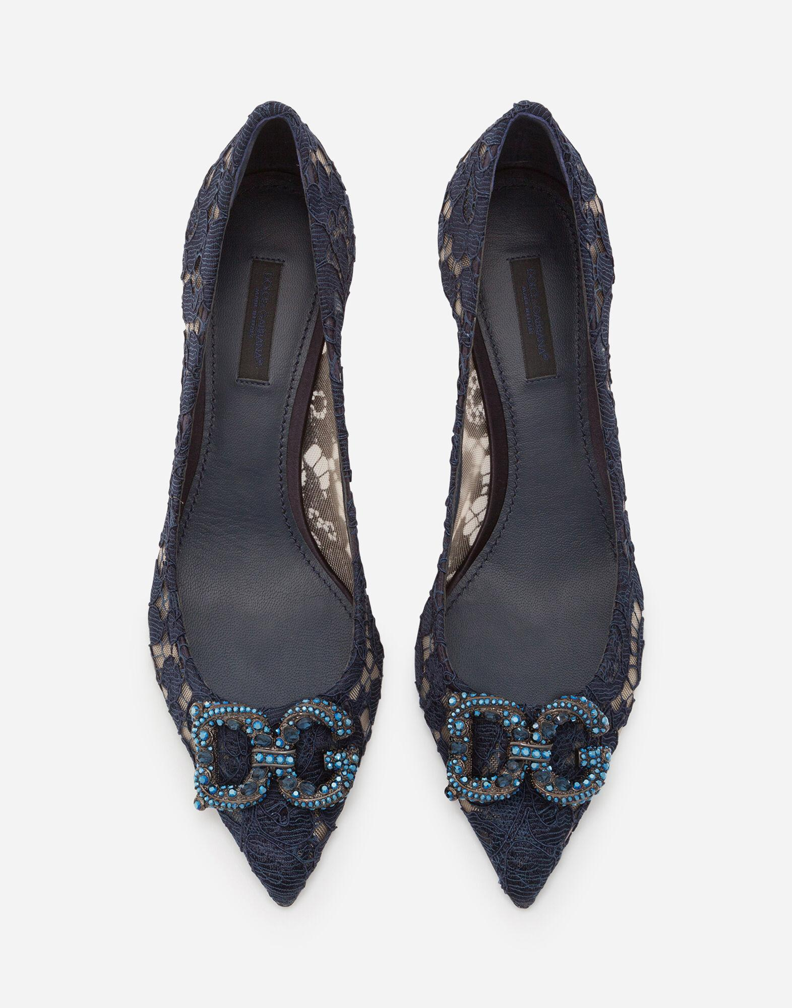 Taormina lace pumps with DG Amore logo 3