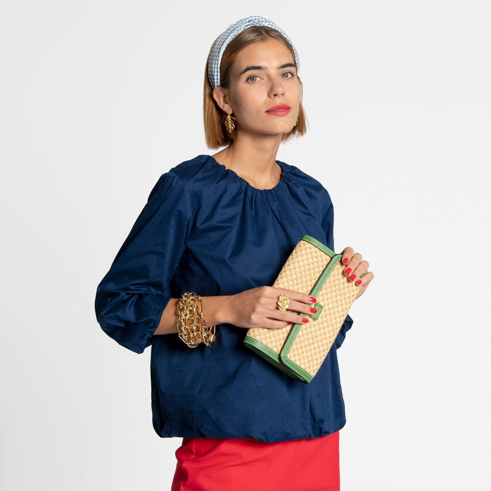 Emily Ruched Top Navy