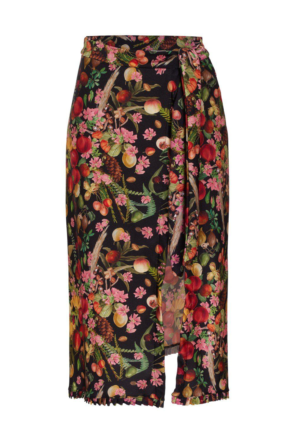 Fruits Exotiques Pareo Skirt with Frills 3