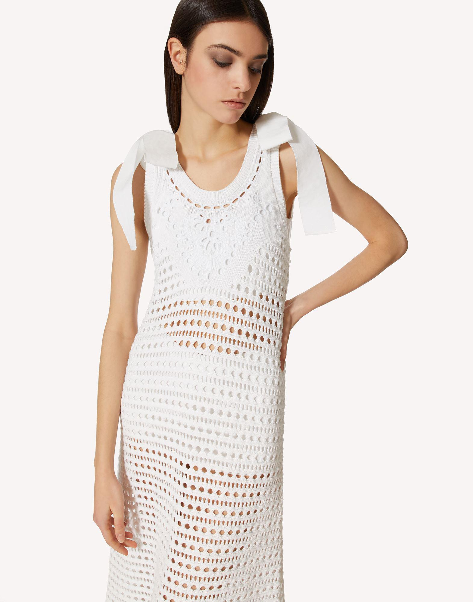 COTTON KNIT DRESS WITH SANGALLO EMBROIDERY 3