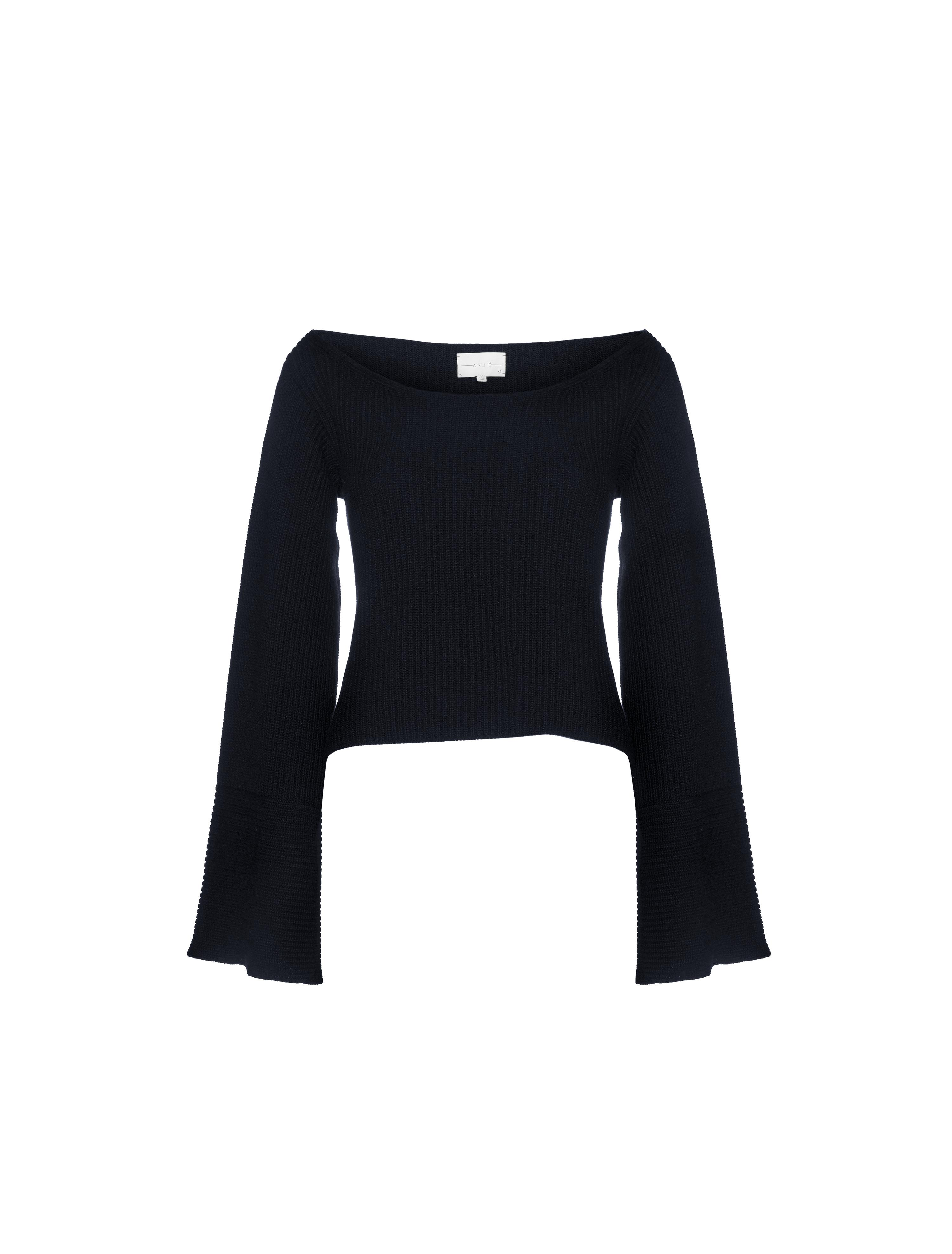 THE CORTINA CASHMERE BLEND WIDE SLEEVE SWEATER