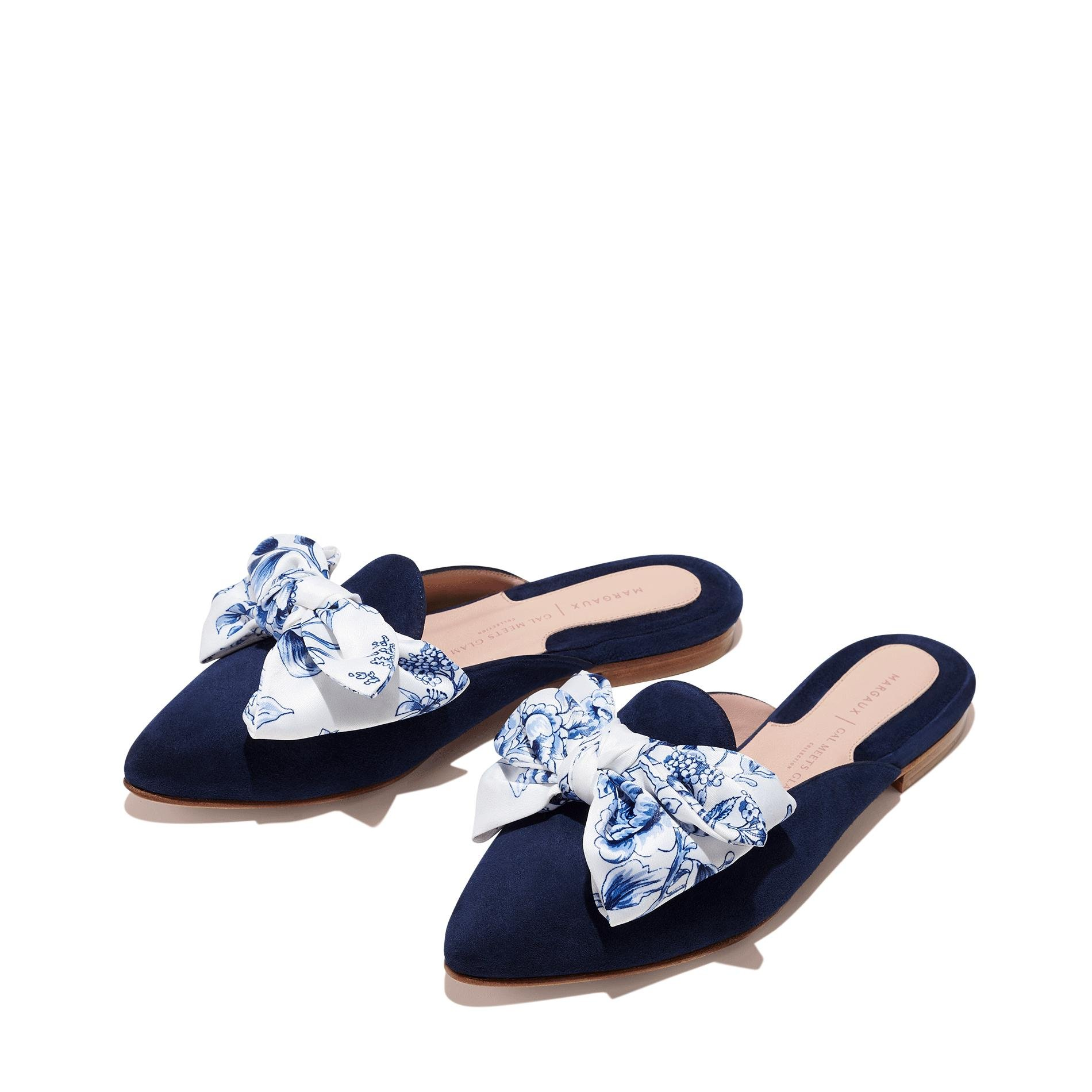 Gal Meets Glam x Margaux - The Mule in Navy Suede