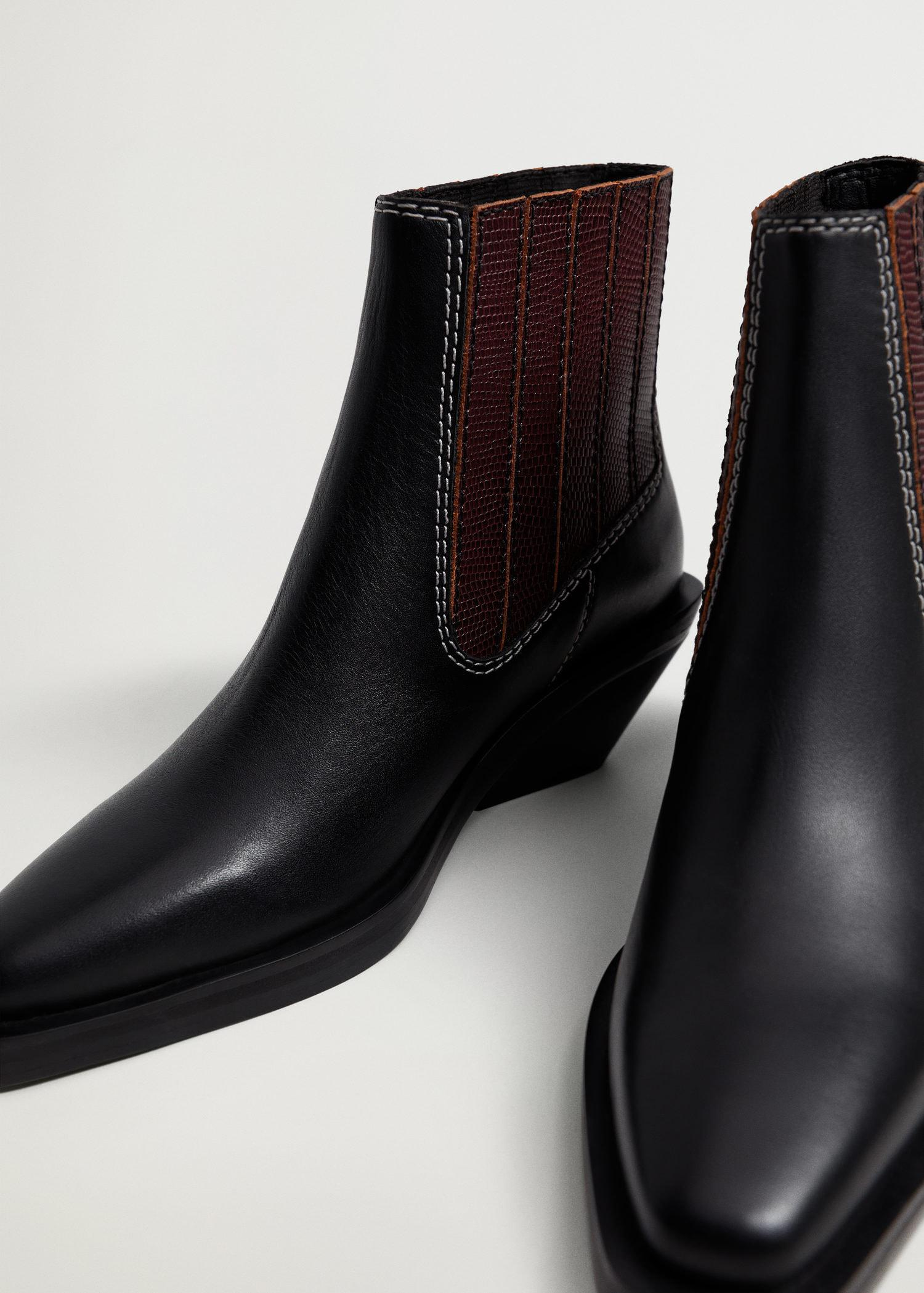 Leather cowboy ankle boots 3