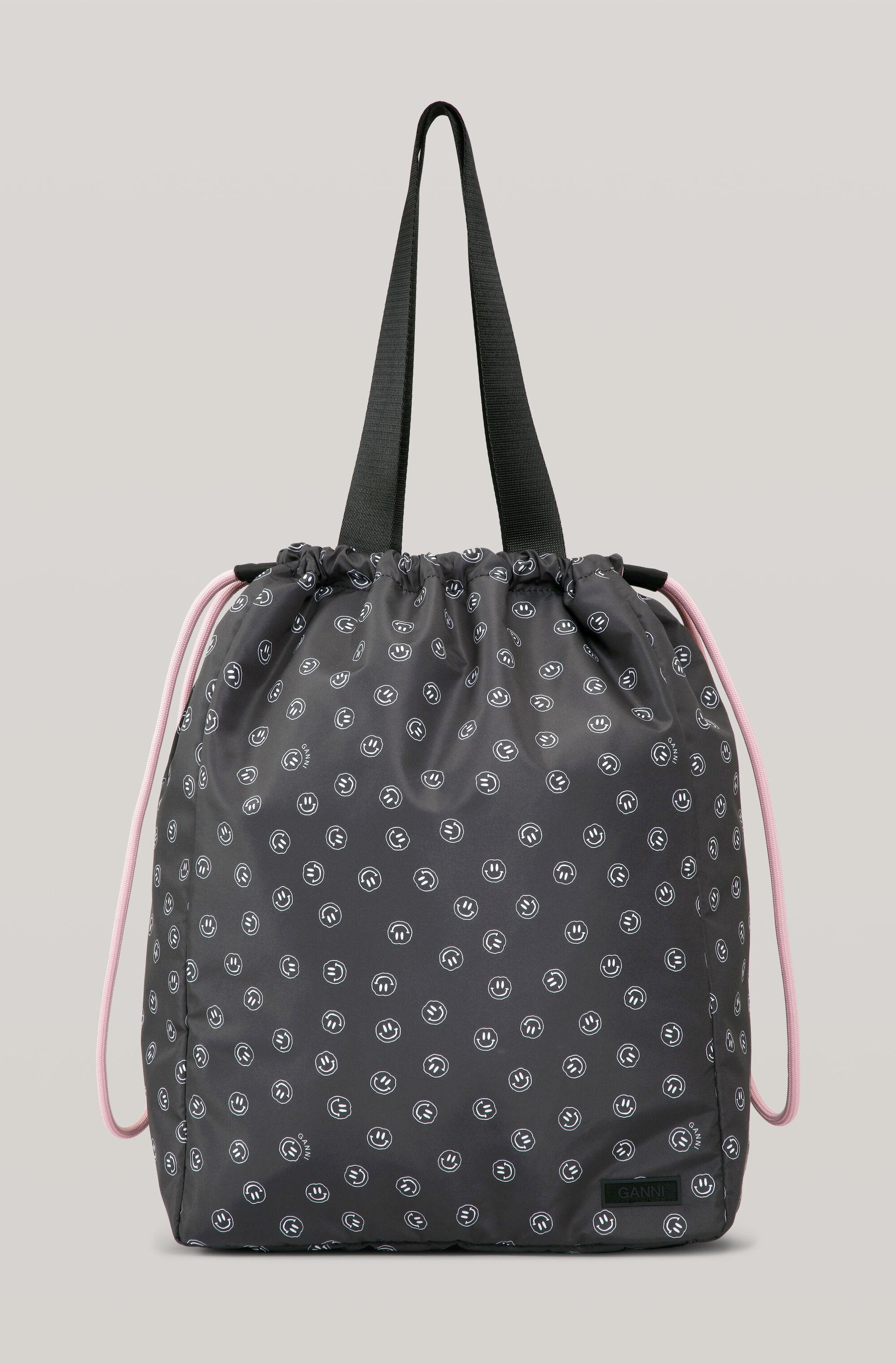 Recycled Tech Fabric Smiley Large Tote Bag