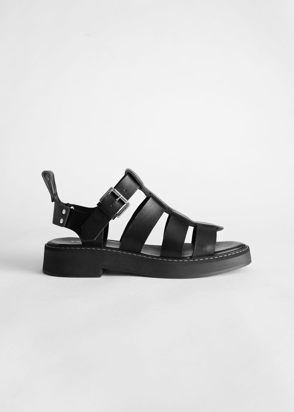 Chunky Leather Gladiator Sandals