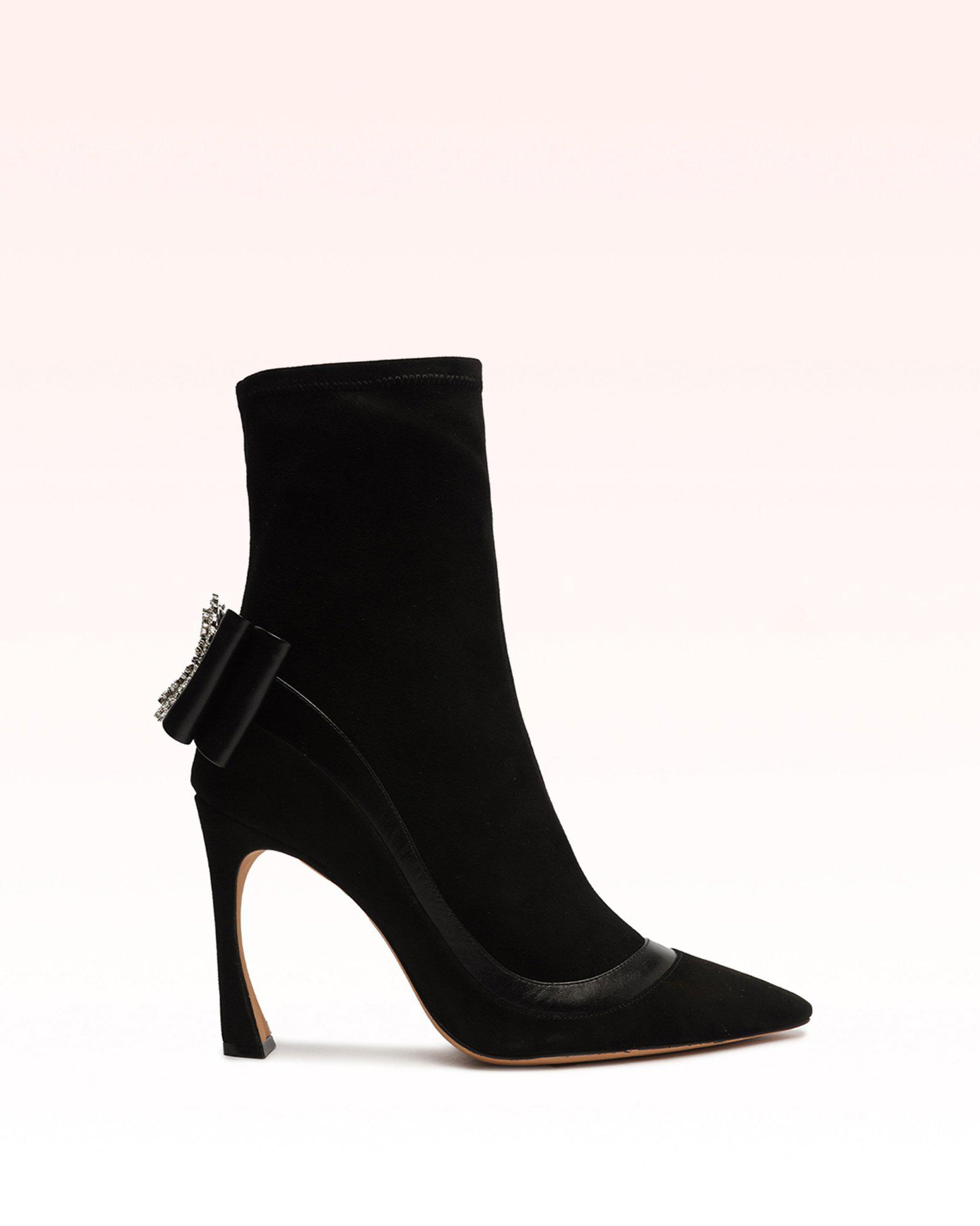 Maddie Wave Suede & Nappa Leather Bootie
